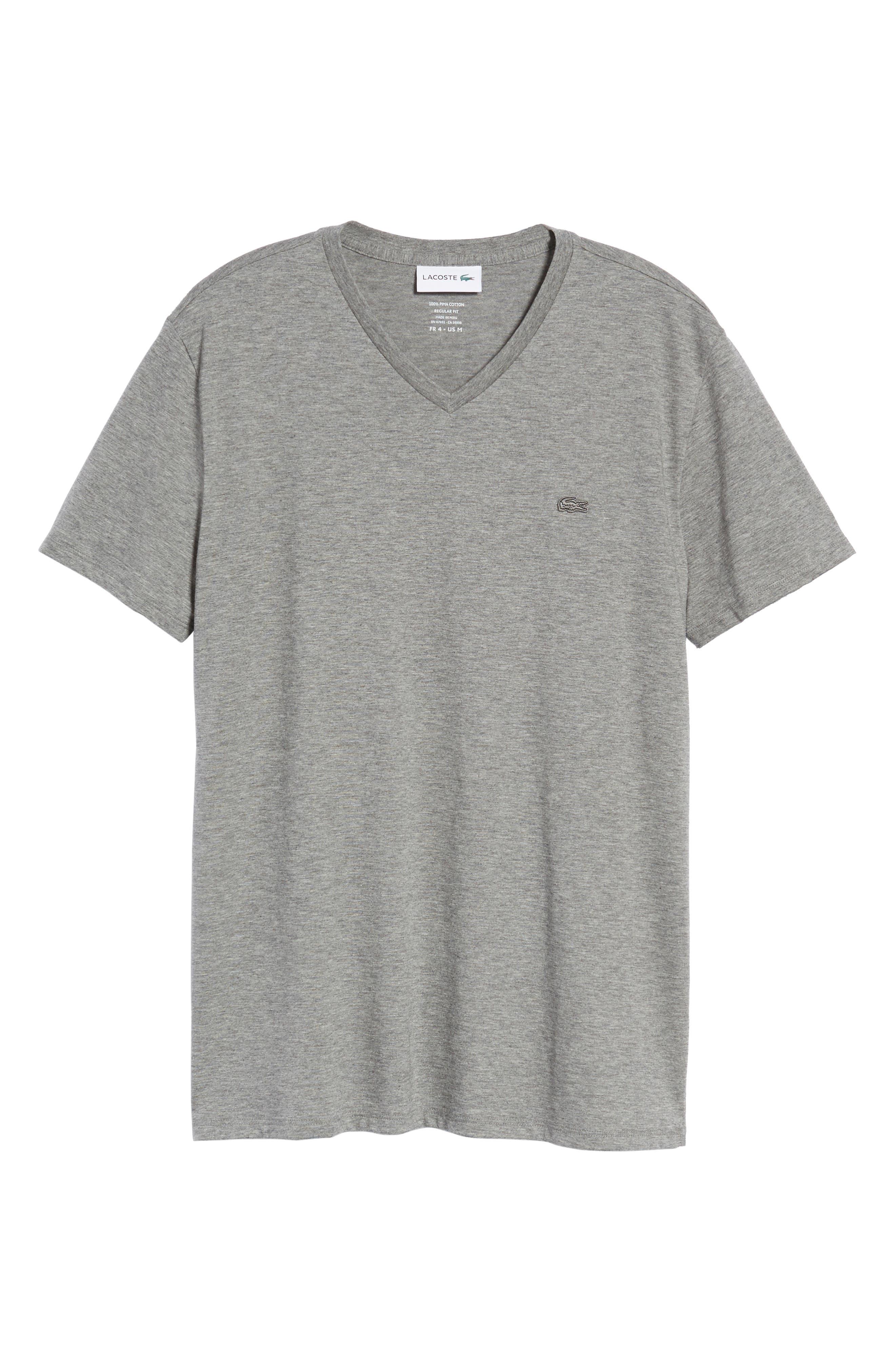 Pima Cotton T-Shirt,                             Alternate thumbnail 6, color,                             GALAXITE CHINE
