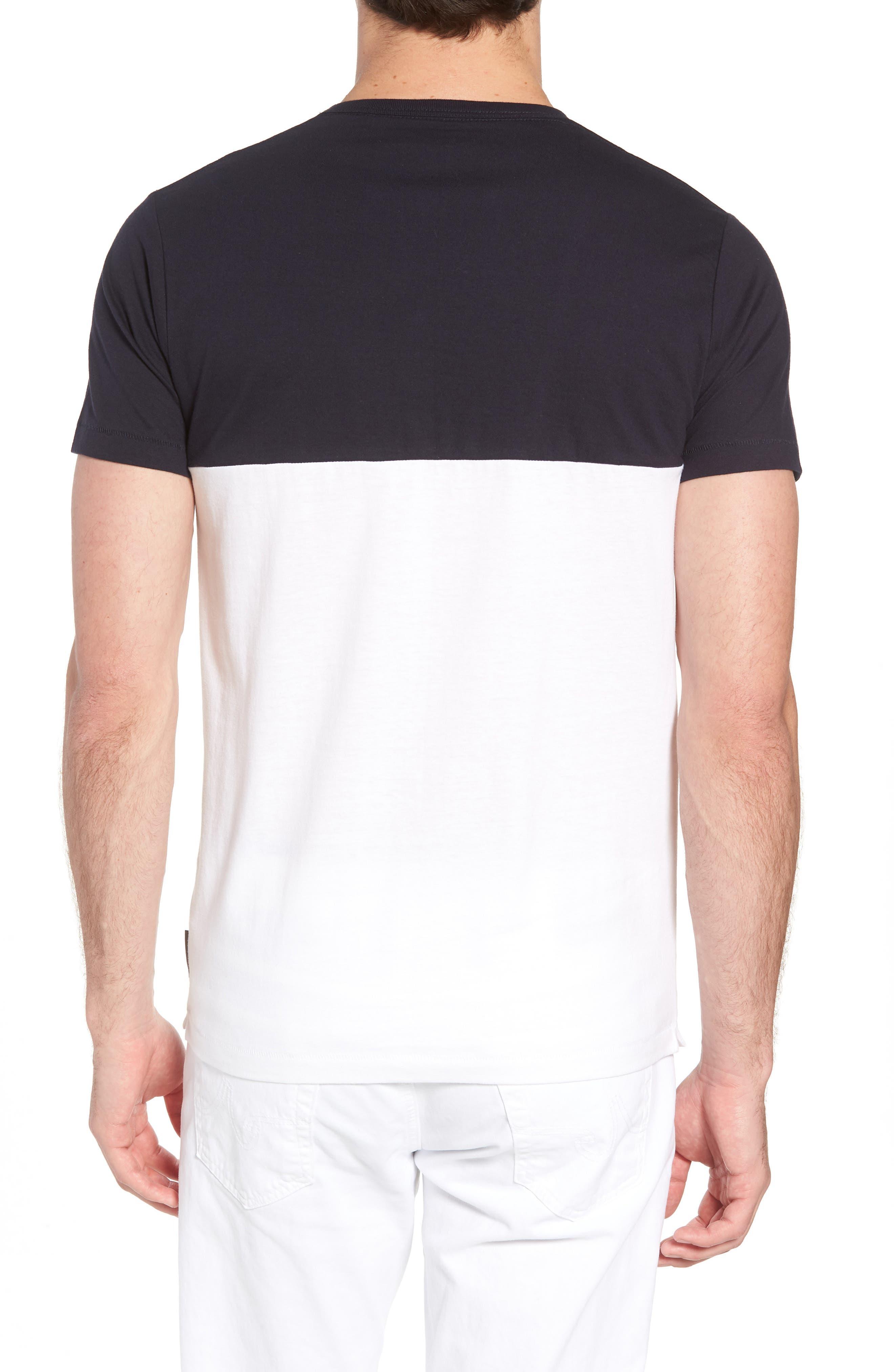 Block Crewneck T-Shirt,                             Alternate thumbnail 3, color,