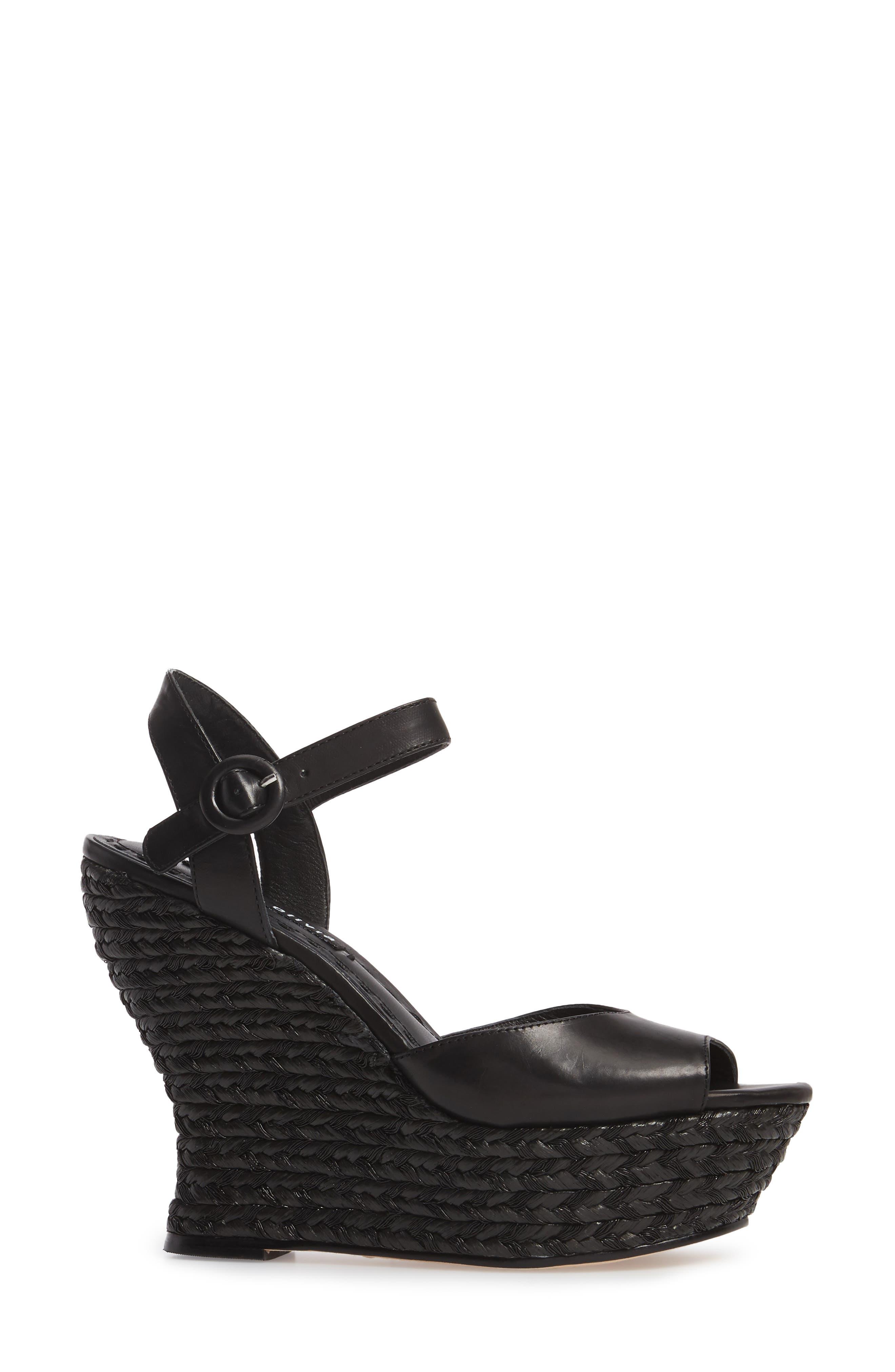 Jana Wedge Platform Sandal,                             Alternate thumbnail 3, color,                             001