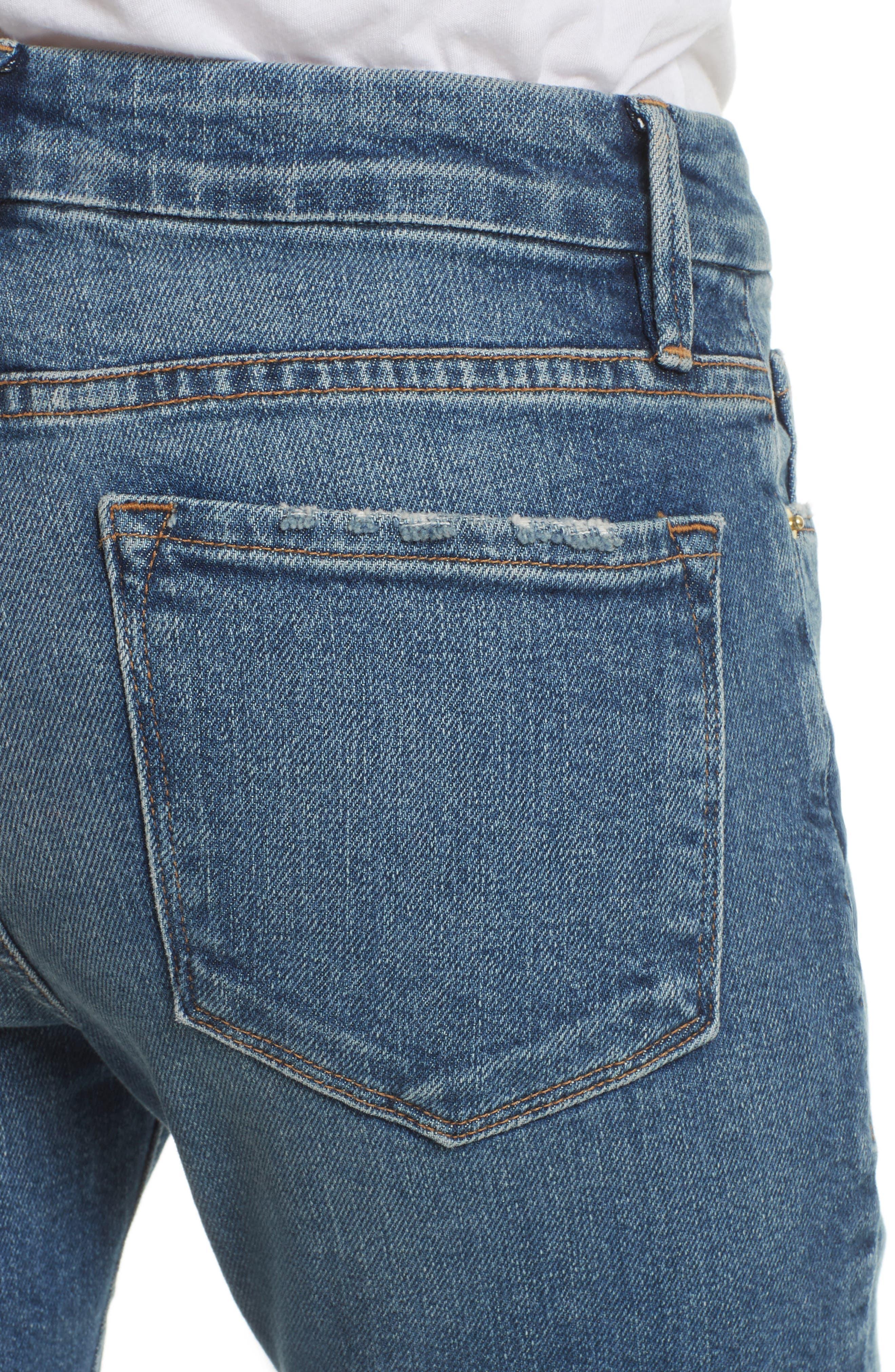 Crop Mini Boot Jeans,                             Alternate thumbnail 4, color,