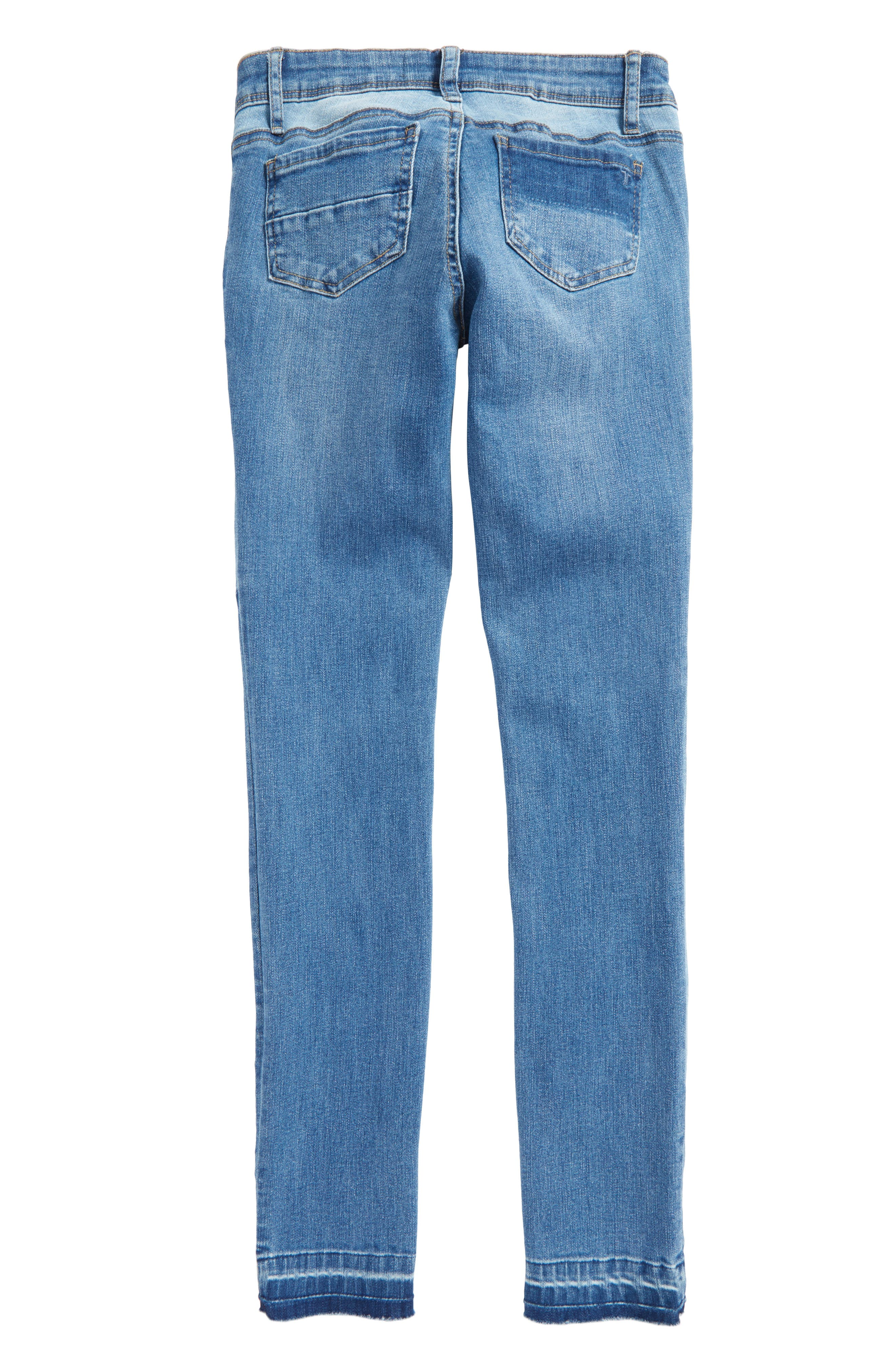 Patchwork Skinny Jeans,                             Alternate thumbnail 2, color,                             407
