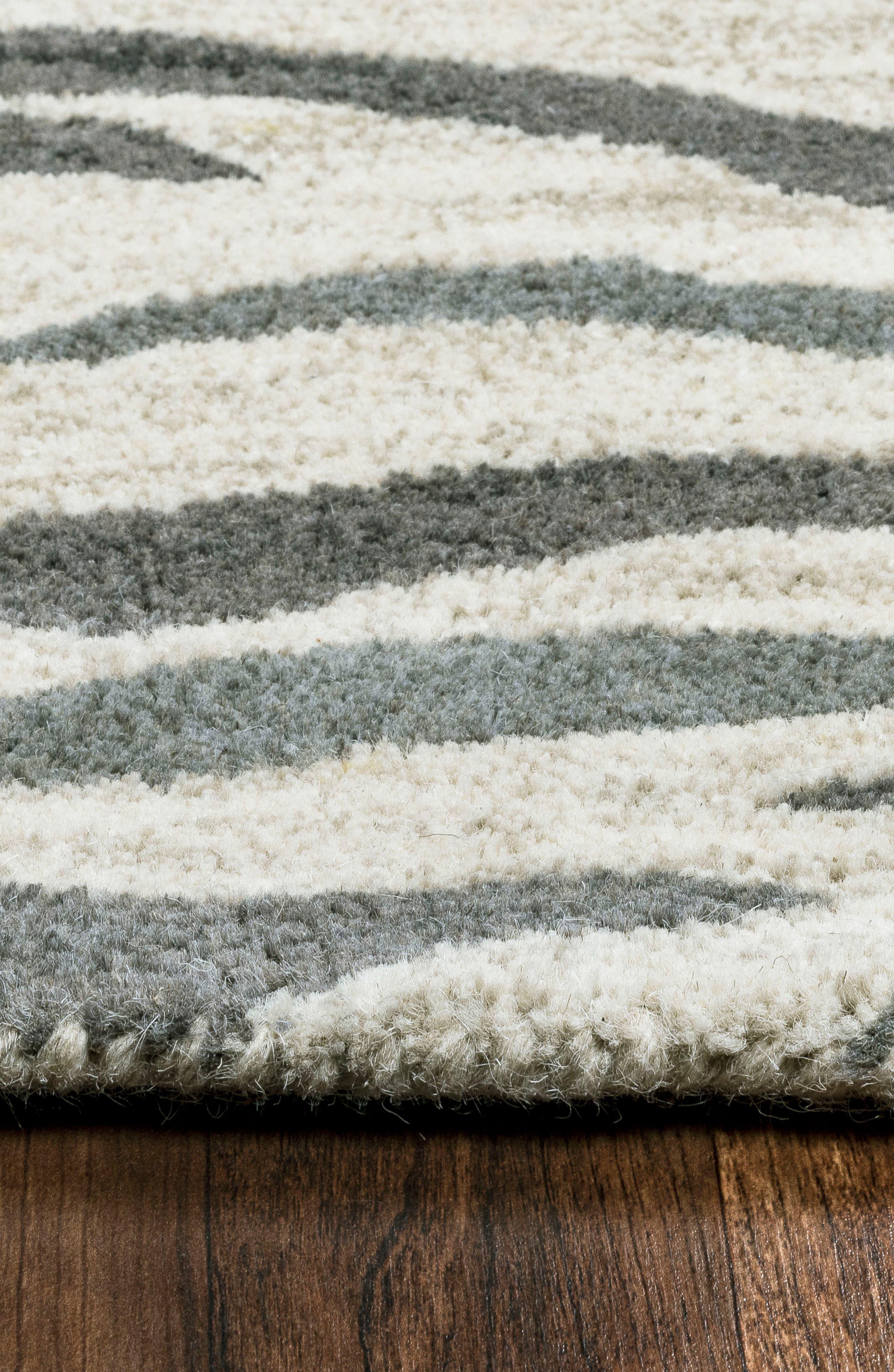 'Valintino Zebra' Hand Tufted Wool Area Rug,                             Alternate thumbnail 5, color,                             020