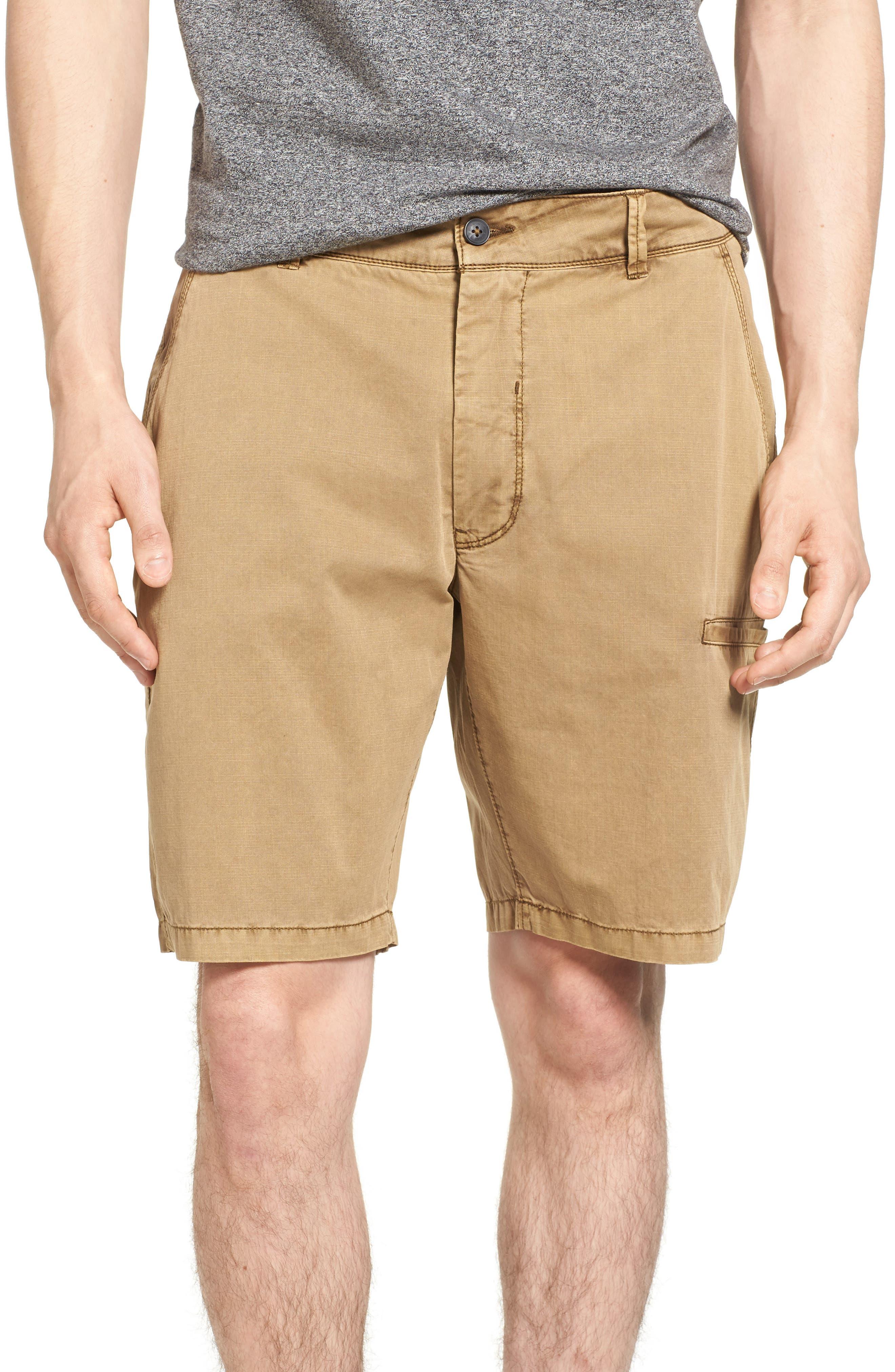 Merrill Pigment Slub Poplin Shorts,                             Main thumbnail 1, color,                             CELLO