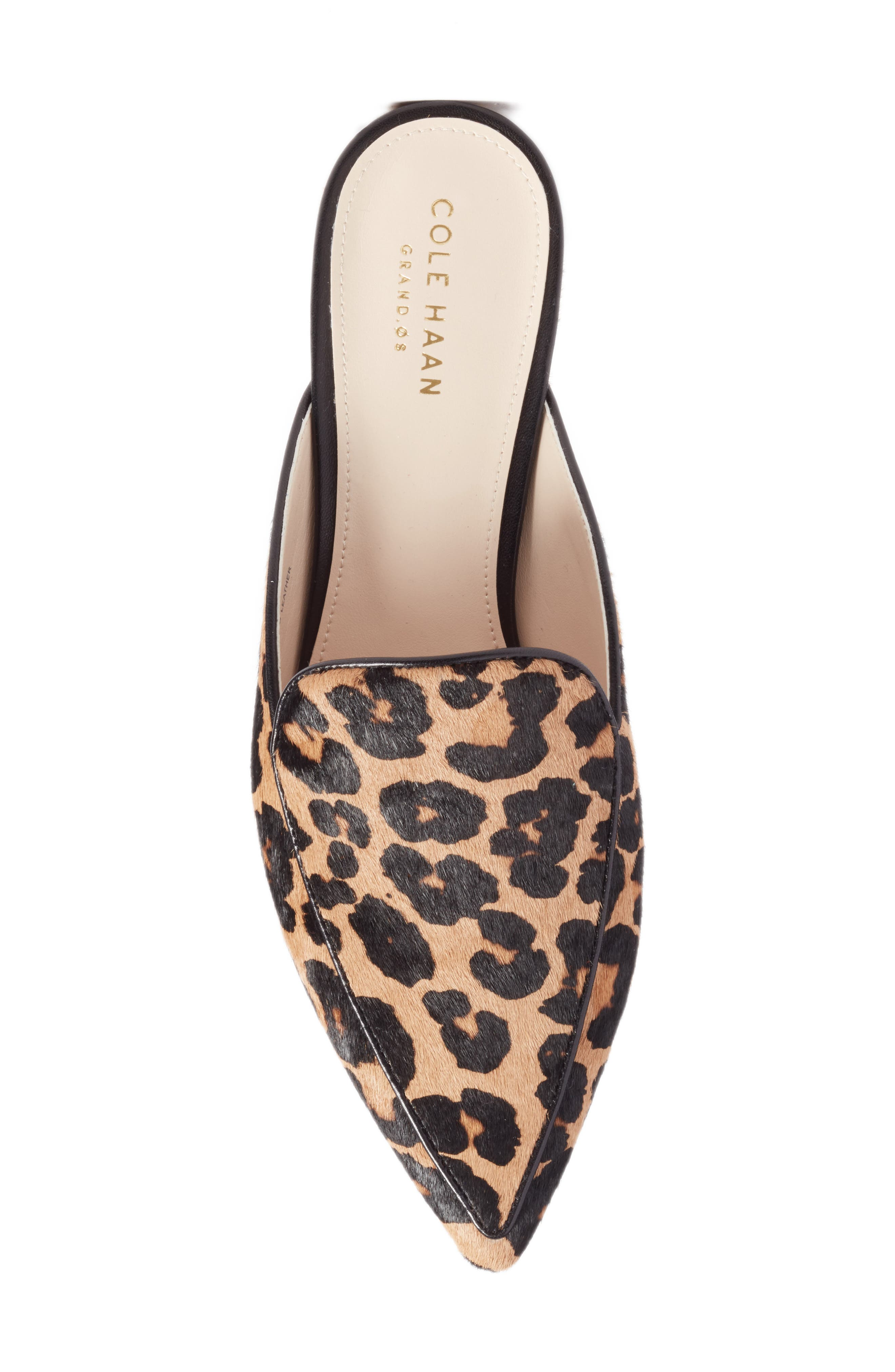 Piper Loafer Mule,                             Alternate thumbnail 5, color,                             OCELOT PRINT CALF HAIR