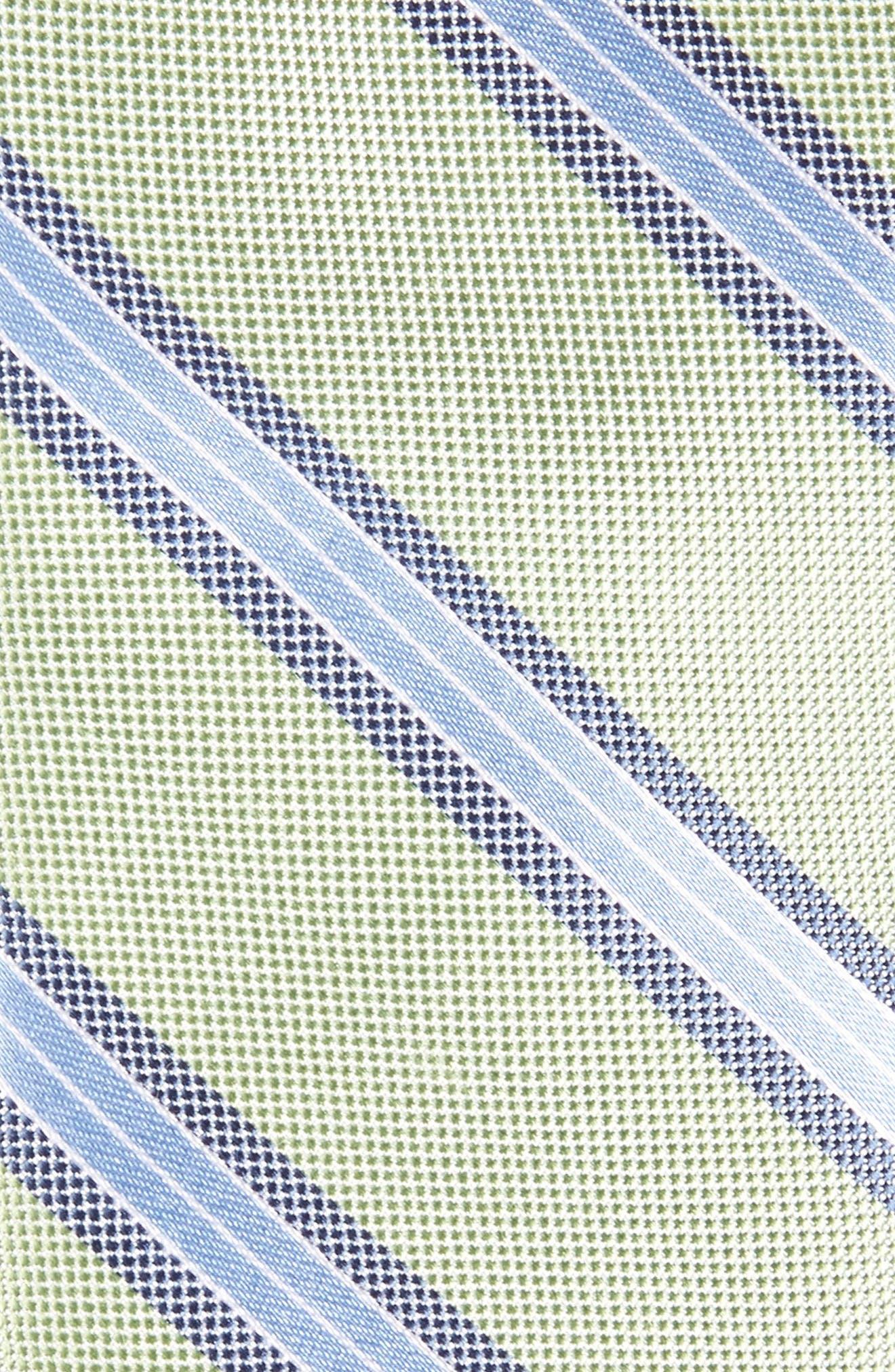 Stripe Silk Skinny Tie,                             Alternate thumbnail 6, color,