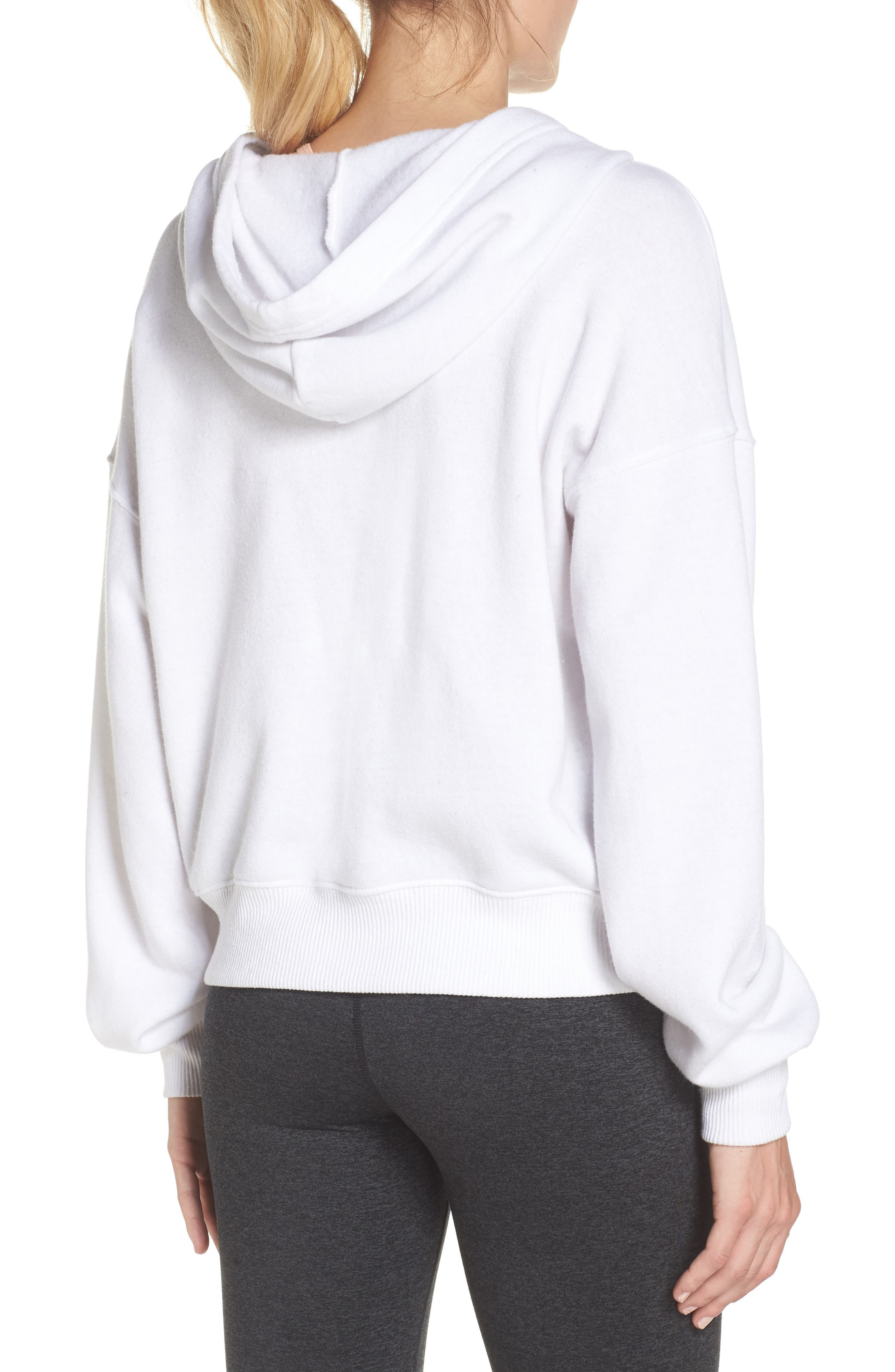 FREE PEOPLE MOVEMENT,                             Believer Hoodie,                             Alternate thumbnail 2, color,                             WHITE