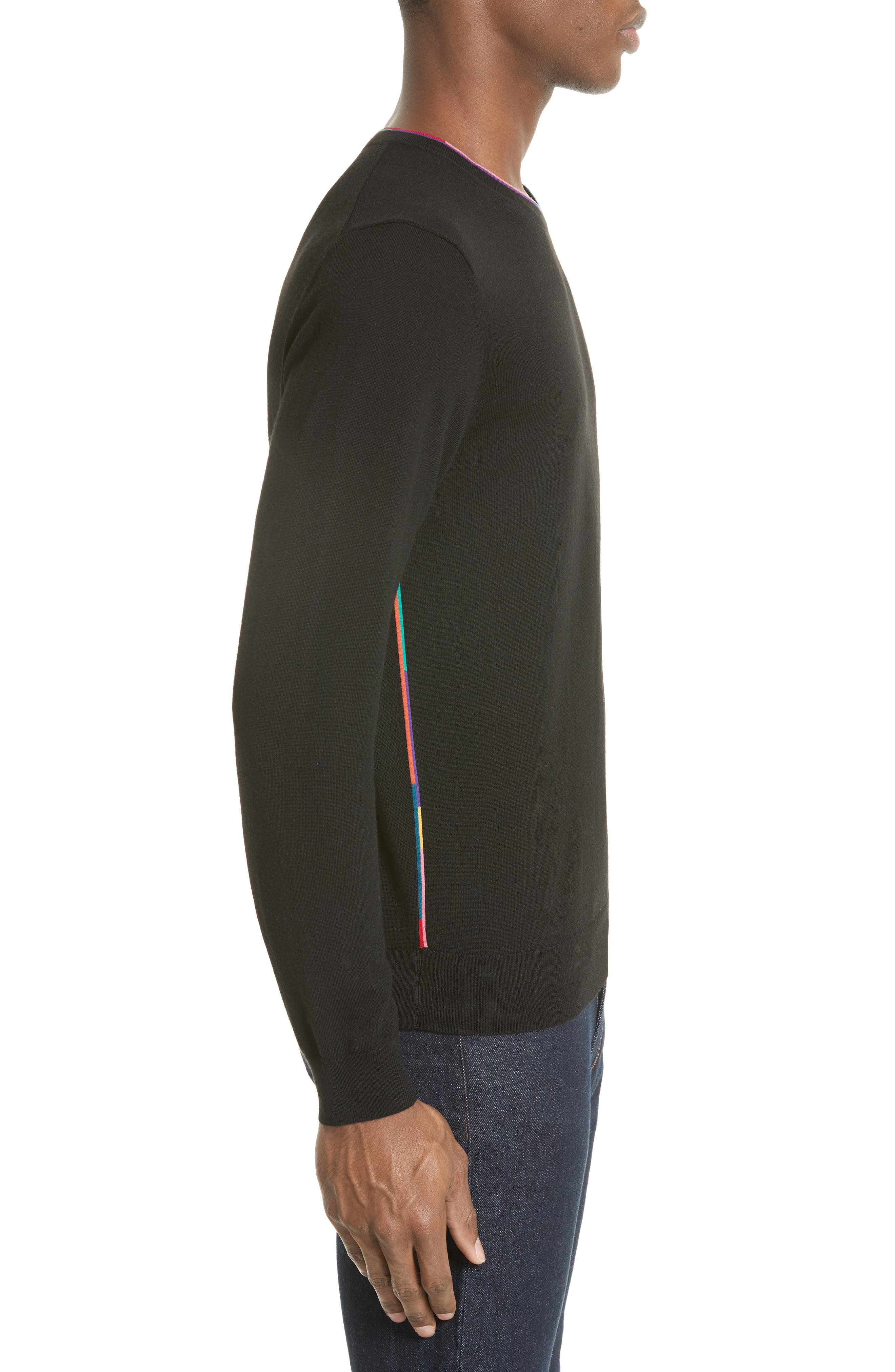 Multicolor Piping Sweater,                             Alternate thumbnail 3, color,                             001