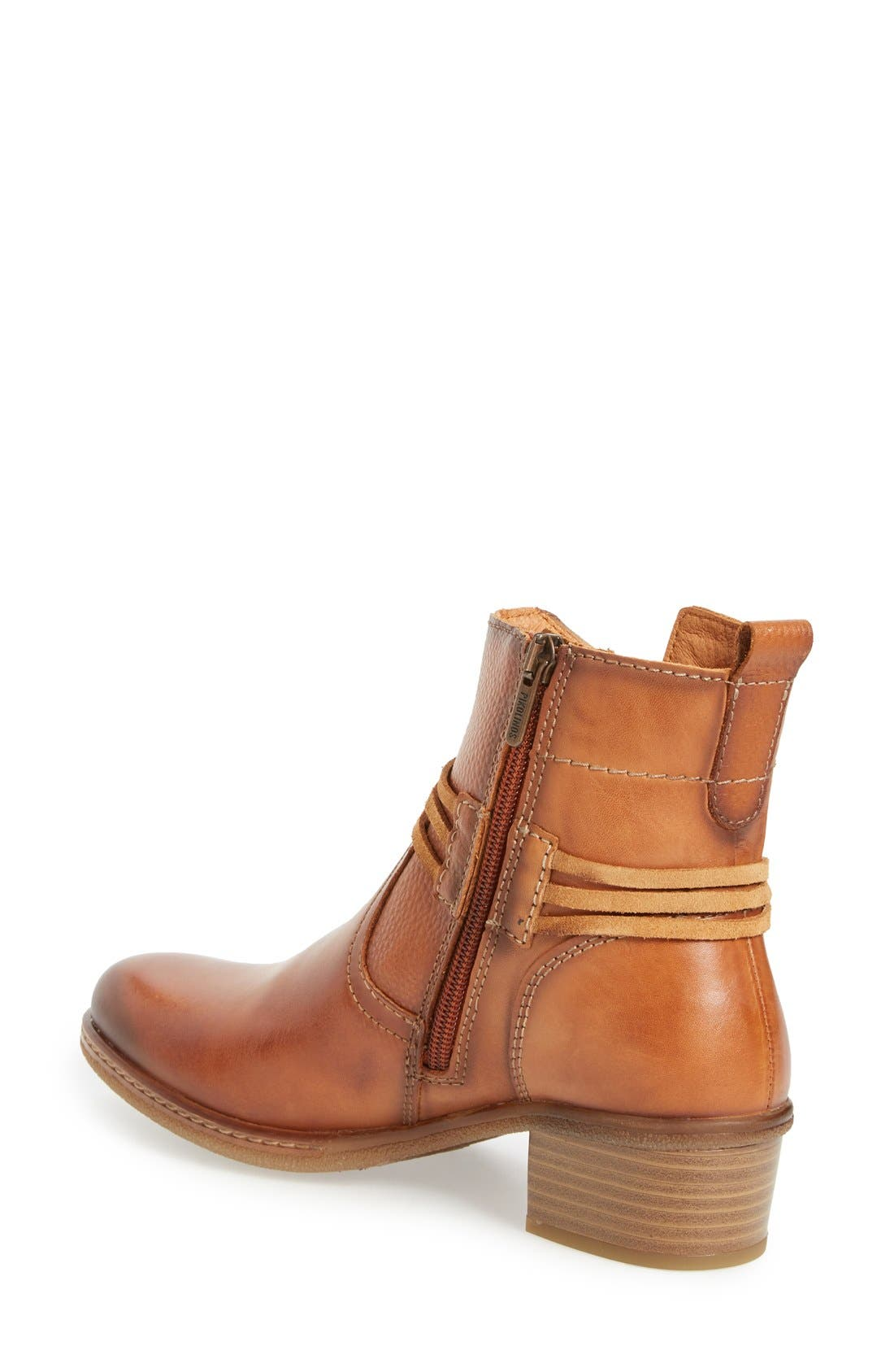 'Zaragoza' Bootie,                             Alternate thumbnail 4, color,                             BRANDY LEATHER