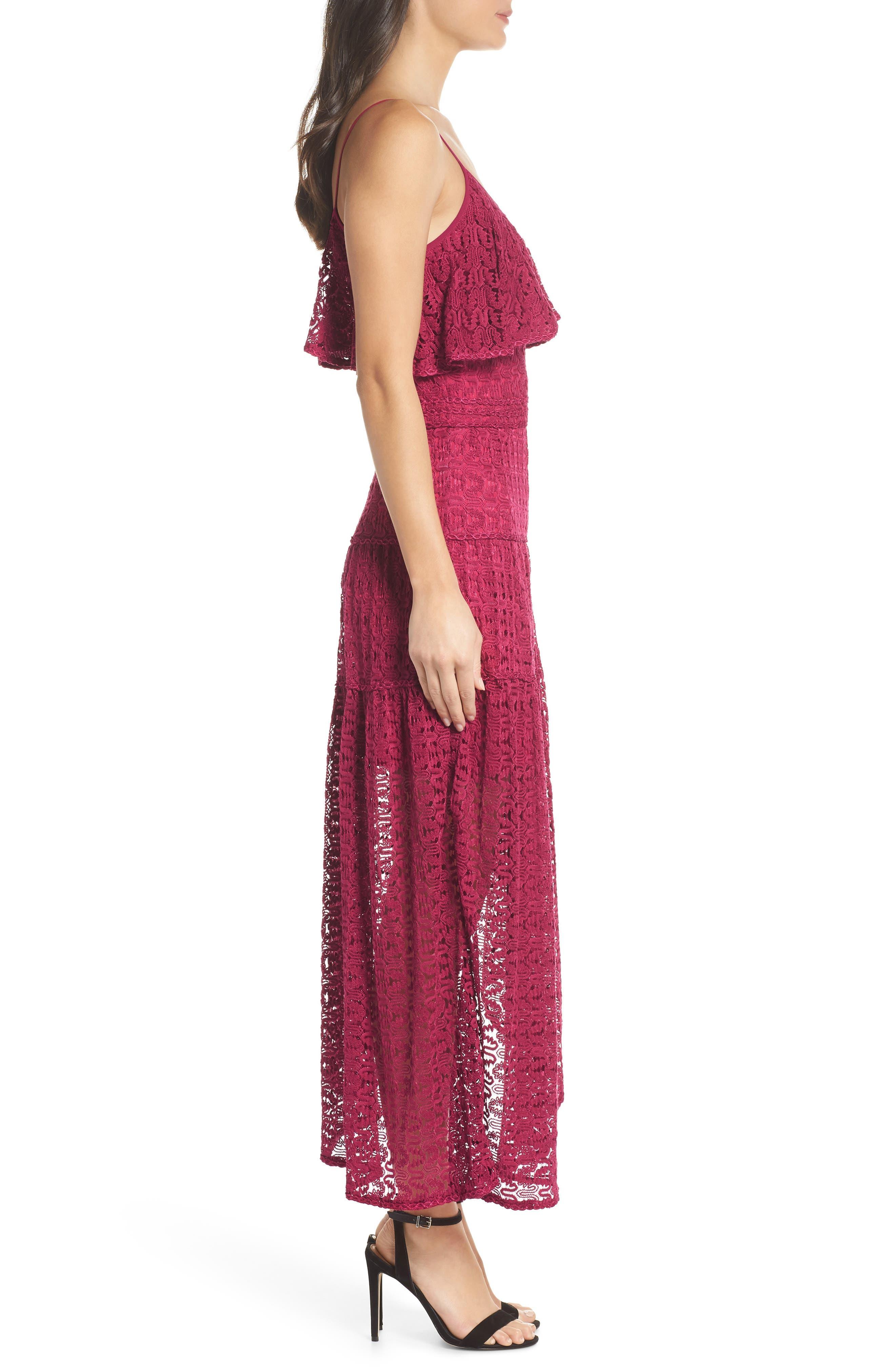 Rayna Asymmetrical Lace Dress,                             Alternate thumbnail 3, color,                             939