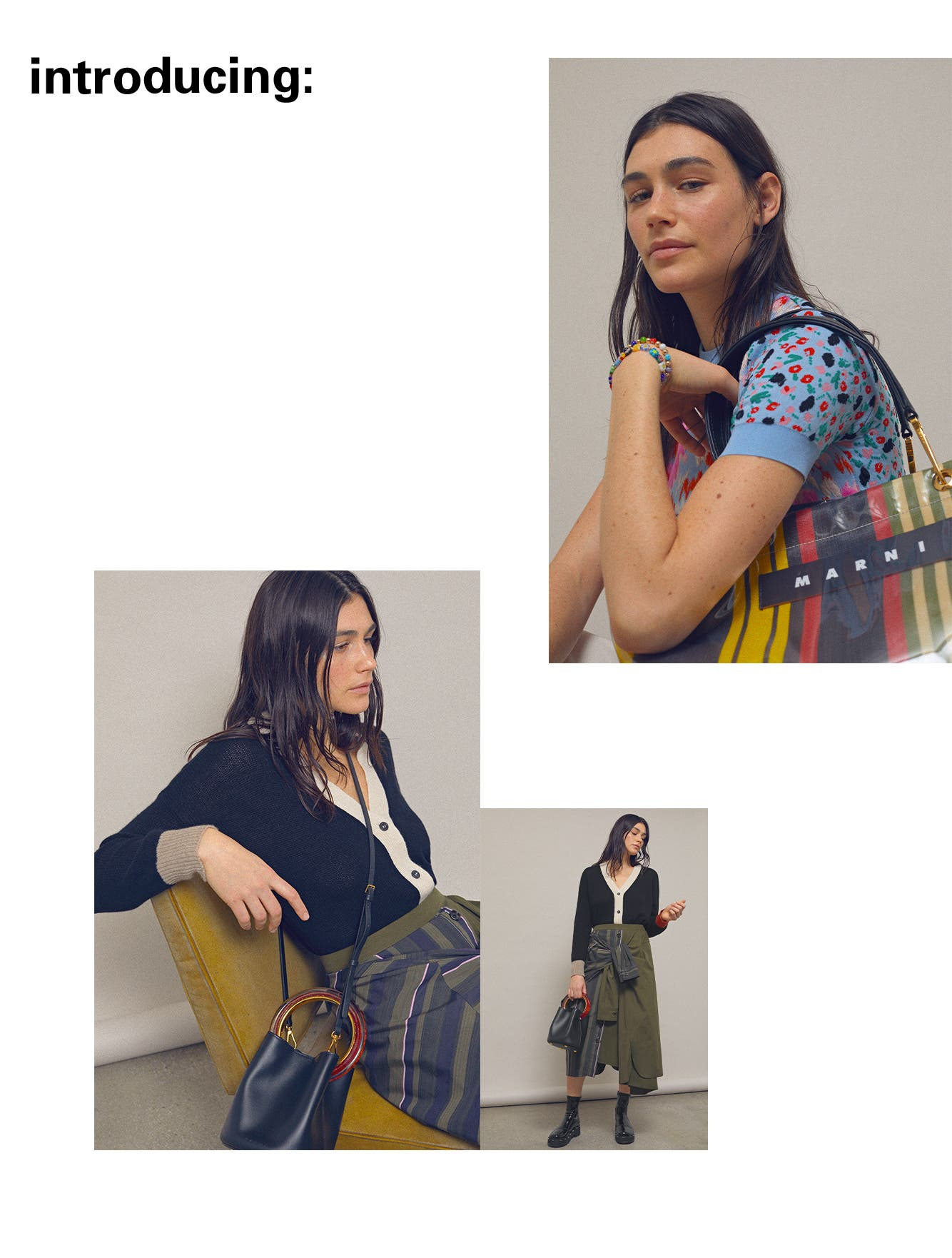 Introducing Marni clothing and accessories.