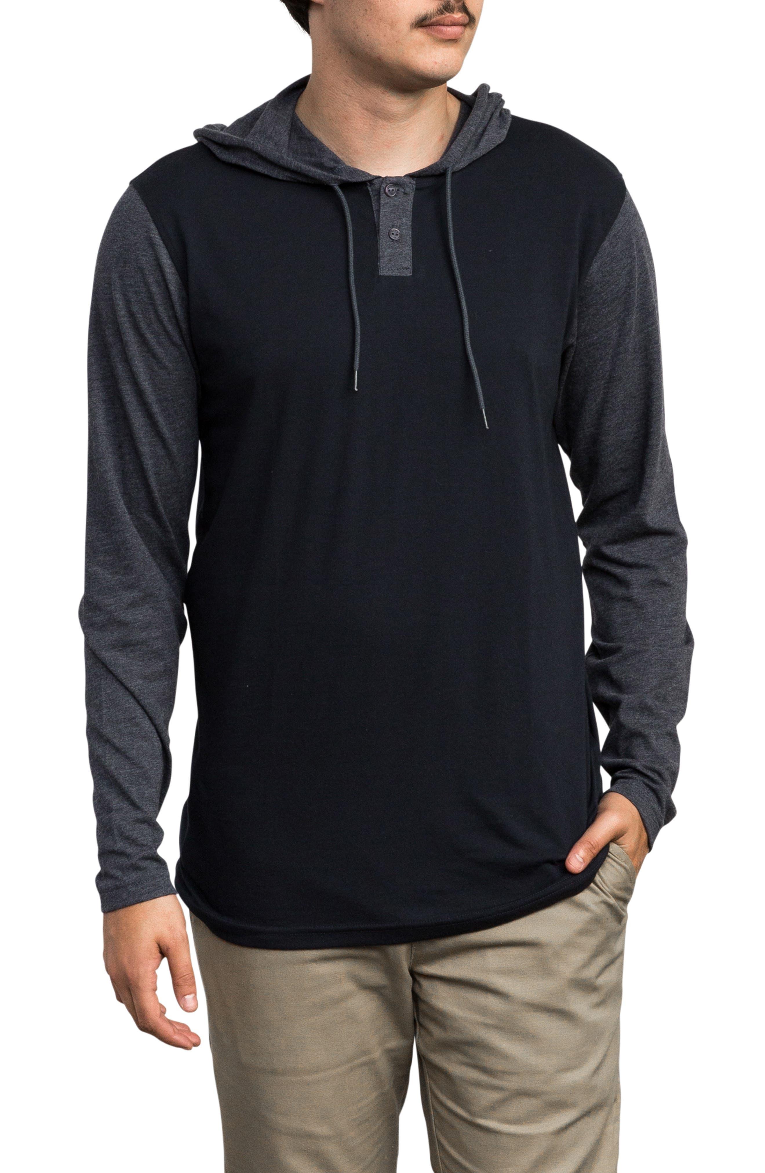 Pick Up Hooded Henley Sweatshirt,                         Main,                         color, NEW NAVY