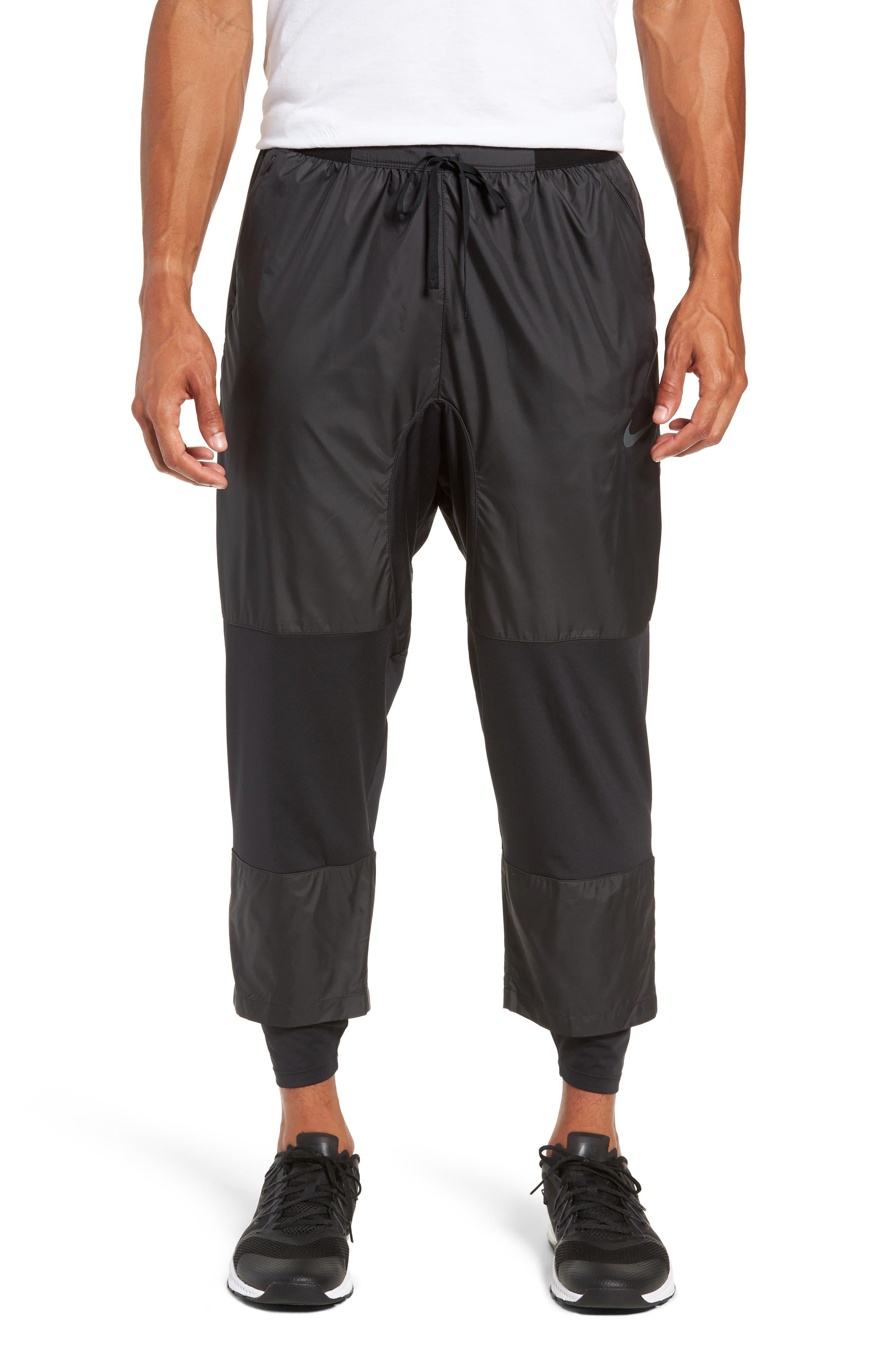 Dry Division Tech Running Pants, Main, color, BLACK/ BLACK