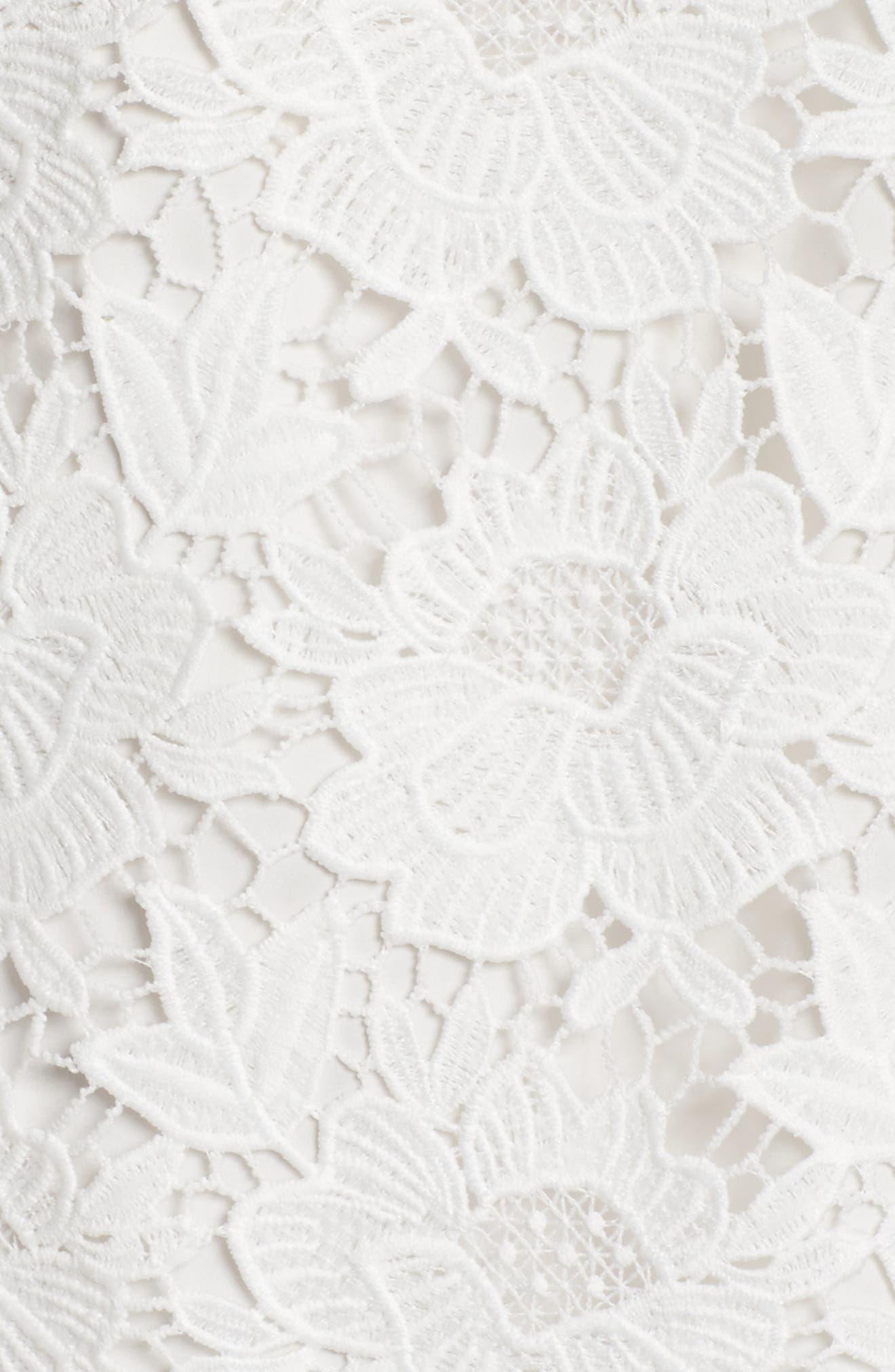 Lace Ruffle Hem Sheath Dress,                             Alternate thumbnail 10, color,