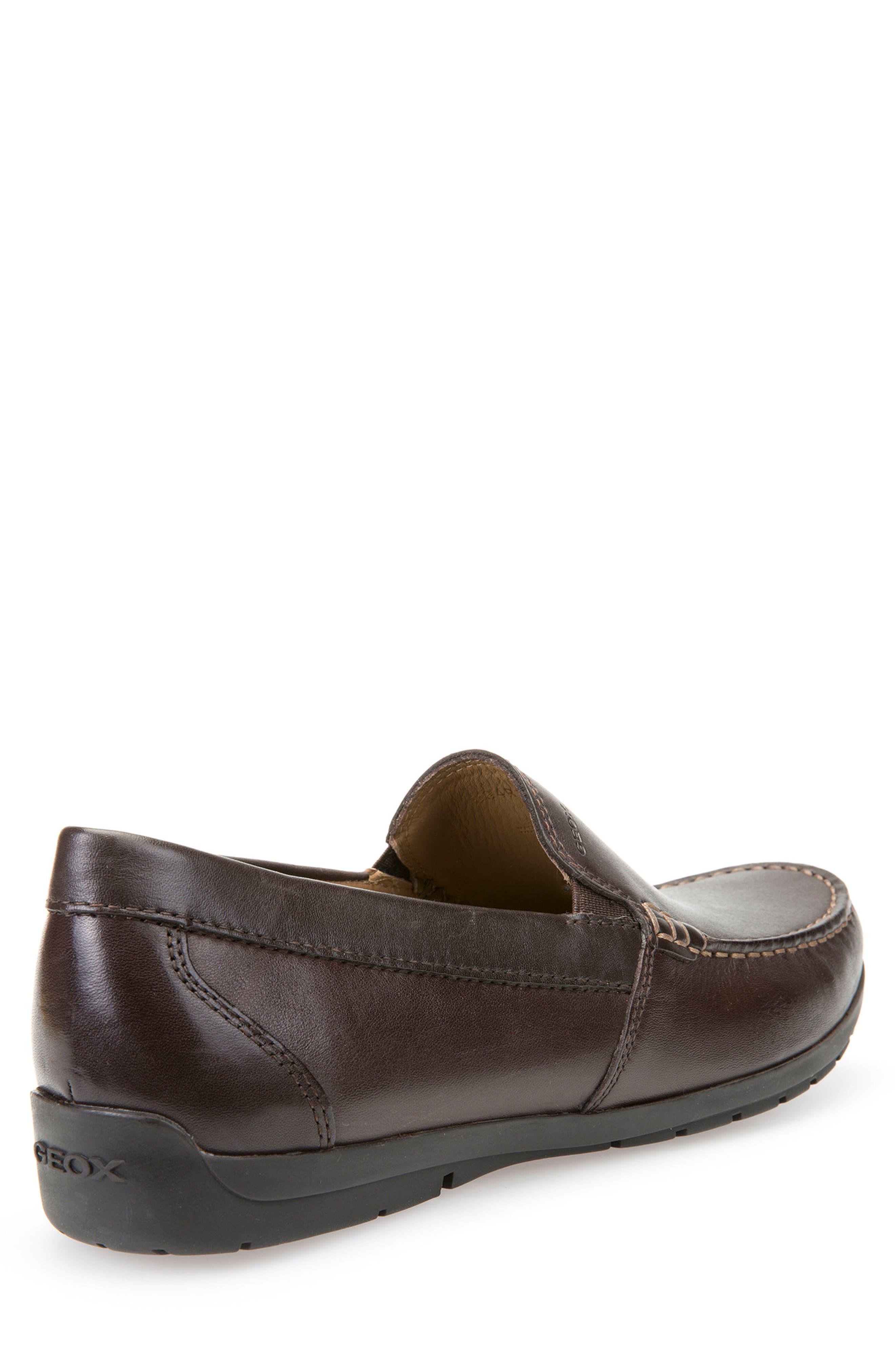'Simon W2' Venetian Loafer,                             Alternate thumbnail 2, color,                             BROWN LEATHER