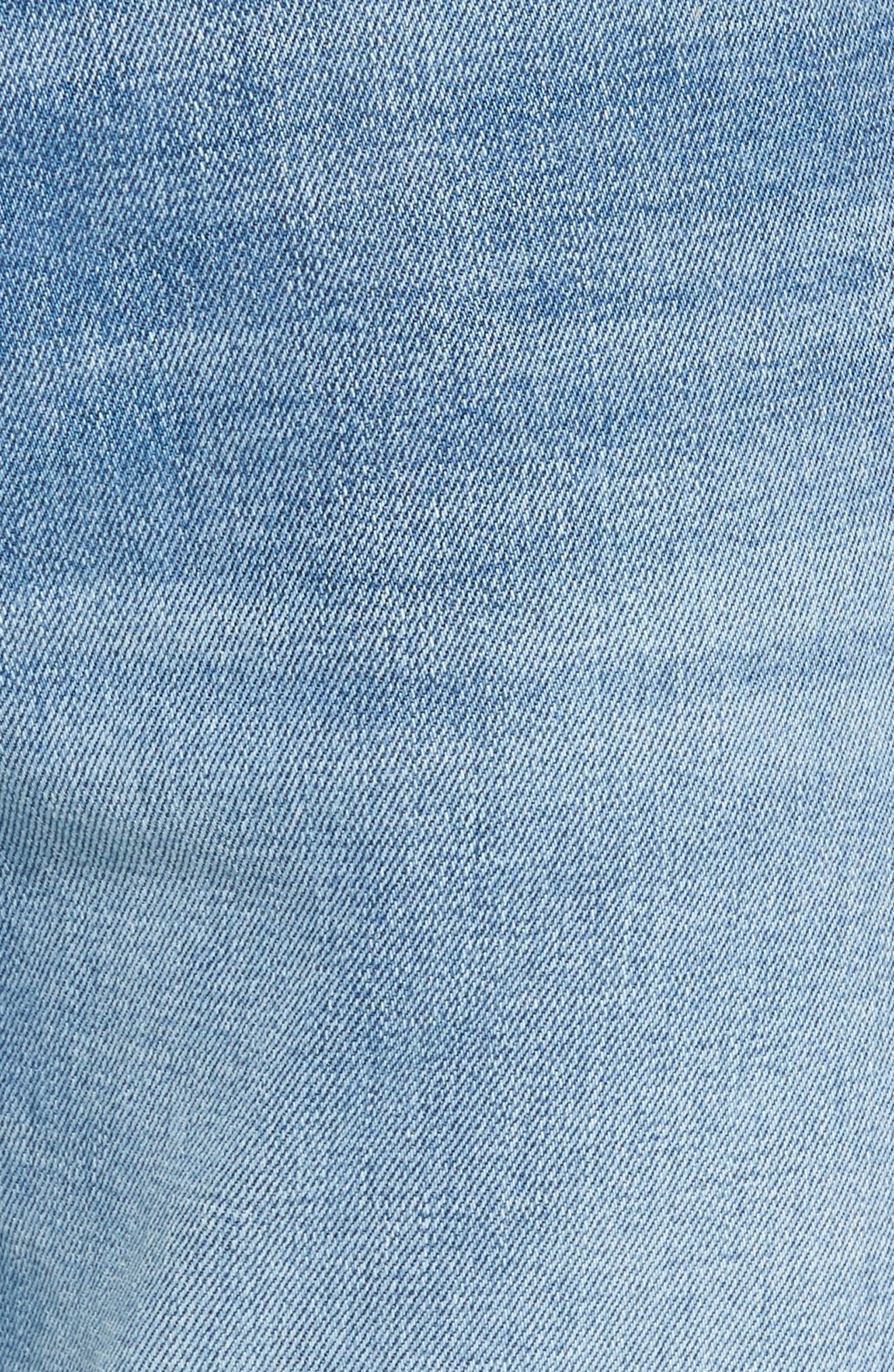 Slim Straight Leg Jeans,                             Alternate thumbnail 5, color,                             LIGHT WASH