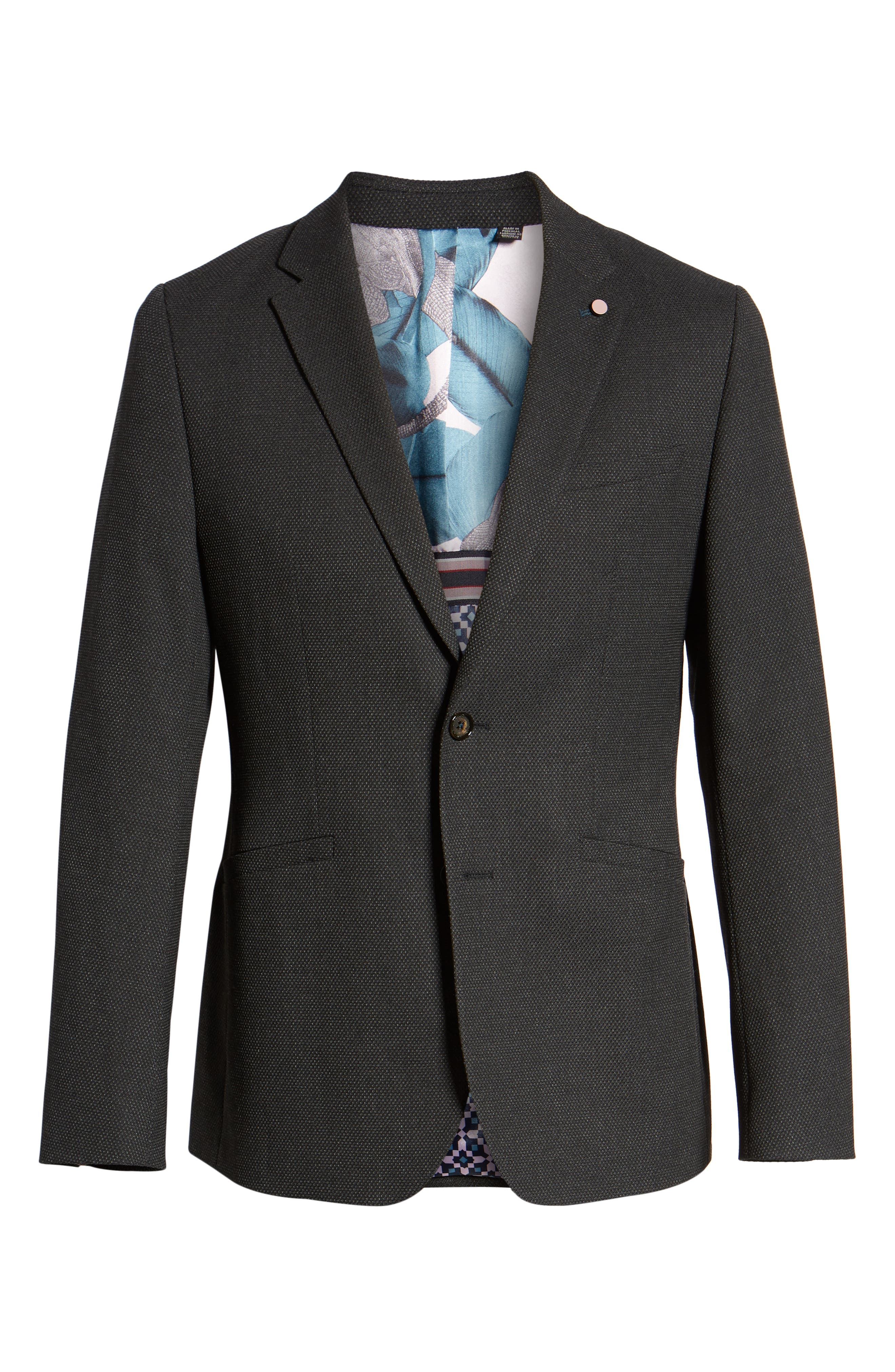 Gorka Slim Fit Suit Jacket,                             Alternate thumbnail 5, color,                             CHARCOAL