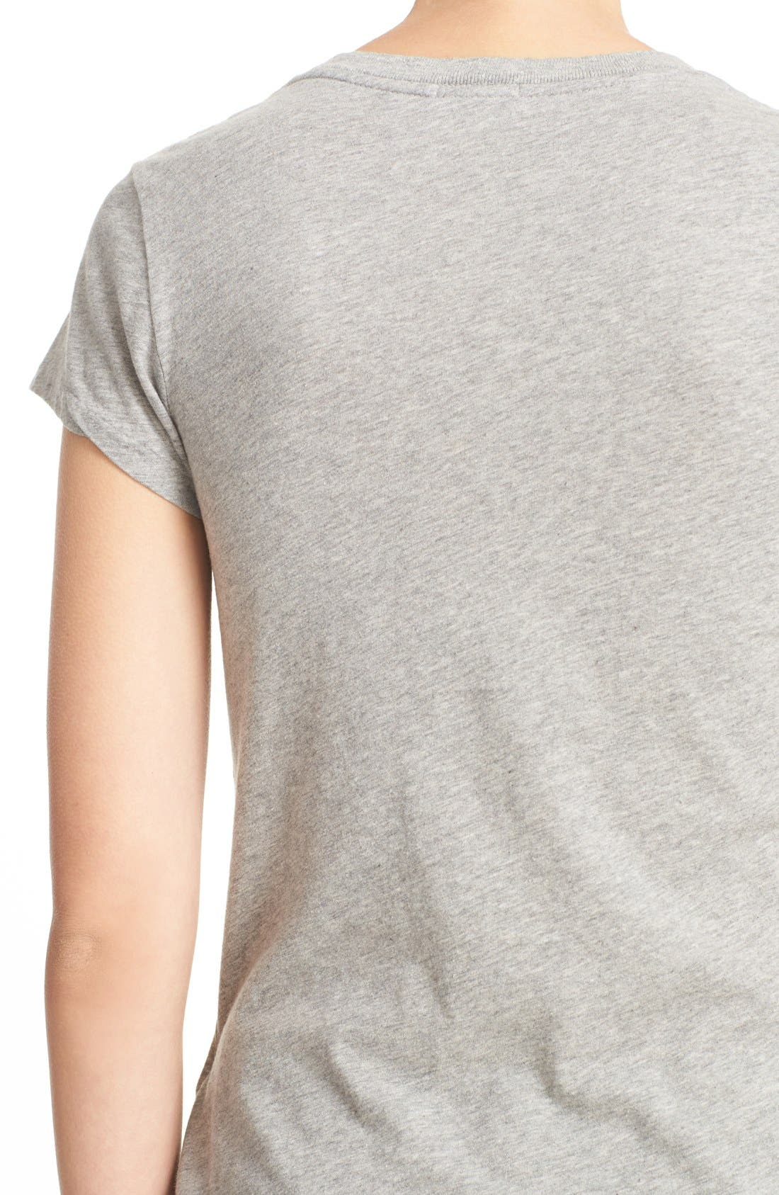 x Hanes '1960s Slim' V-Neck Tee,                             Alternate thumbnail 5, color,