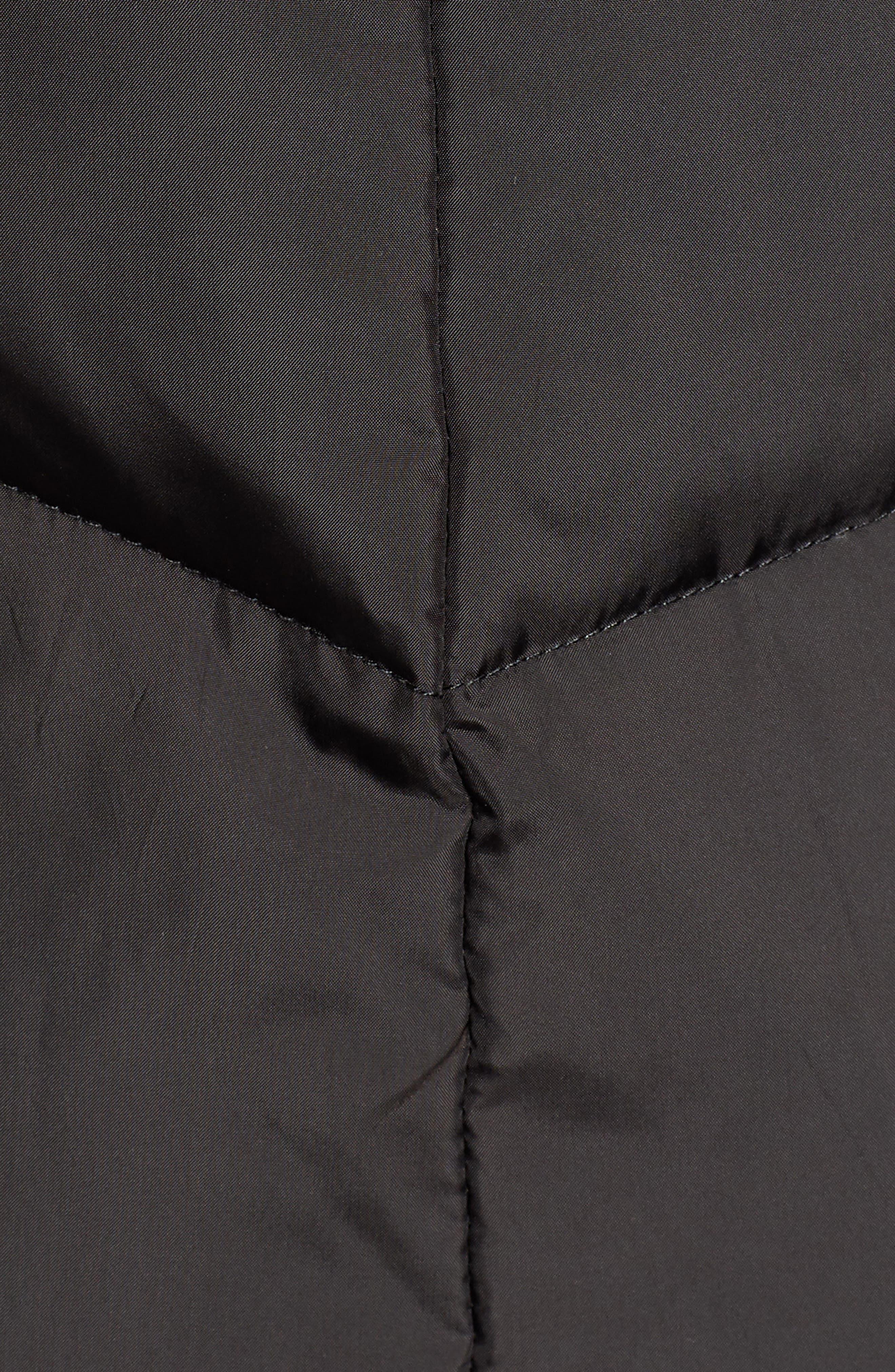 Essential Puffer Coat,                             Alternate thumbnail 7, color,                             BLACK
