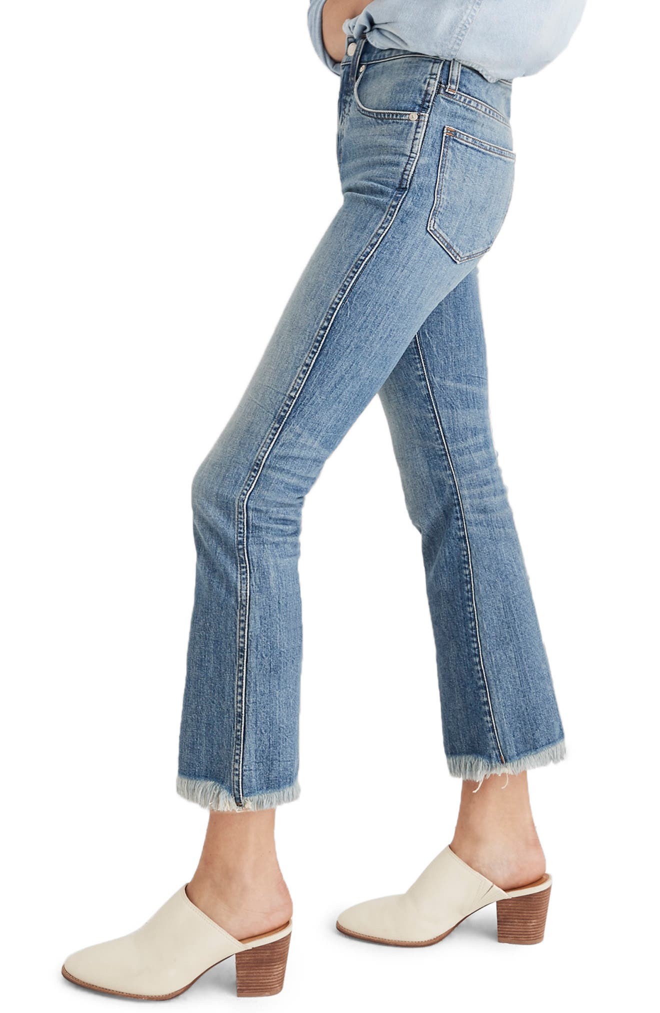 Cali Demi Boot Jeans,                             Alternate thumbnail 3, color,                             HENEY