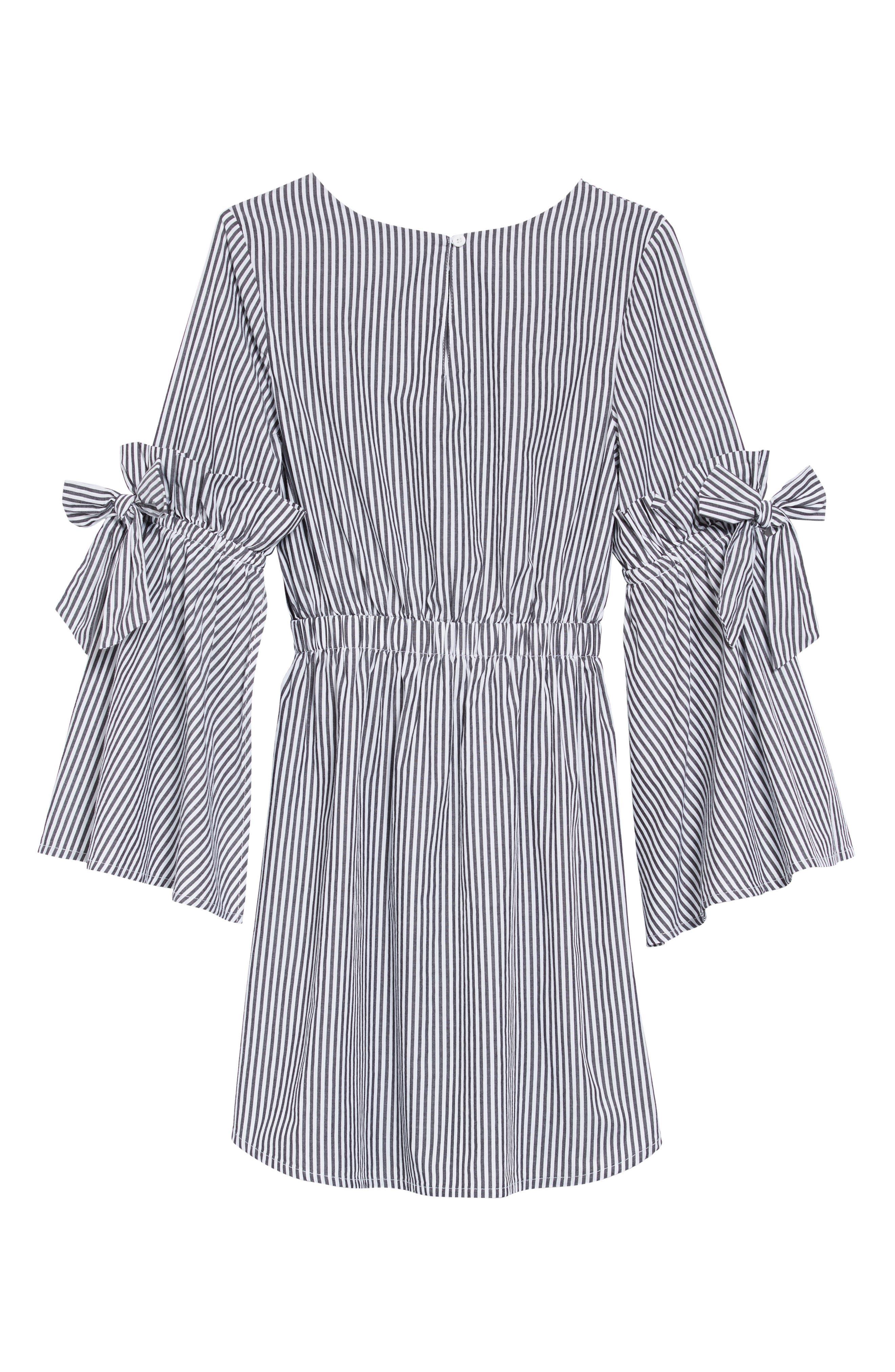 Rosie Bell Sleeve Stripe Dress,                             Alternate thumbnail 2, color,                             STRIPE
