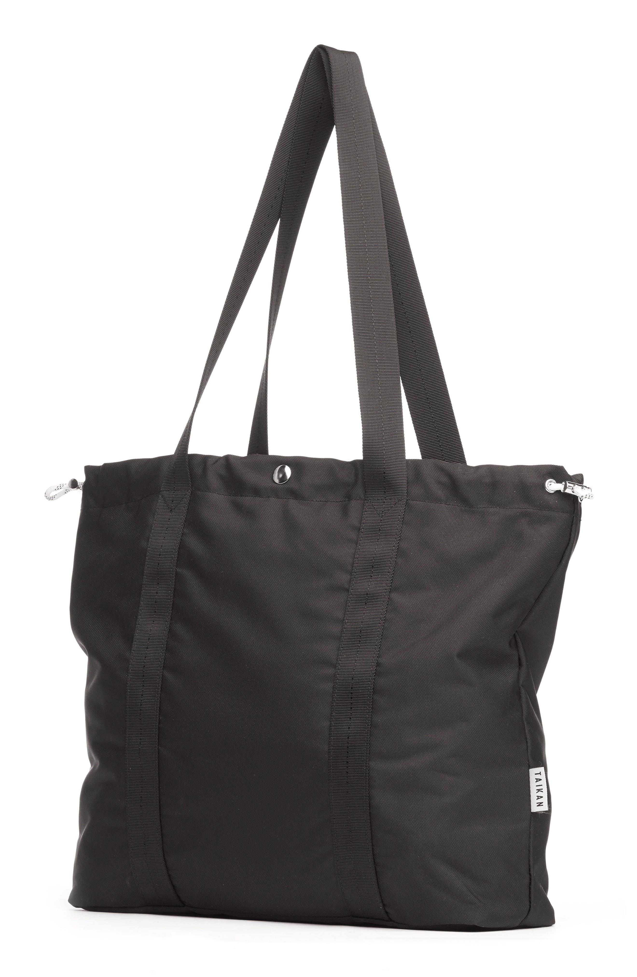 Flanker Tote Bag,                             Alternate thumbnail 2, color,                             MATTE BLACK