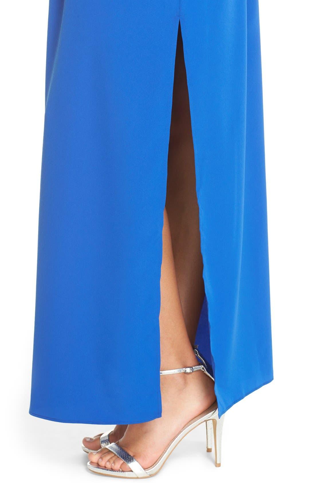 Cutaway Shoulder Maxi Dress,                             Alternate thumbnail 4, color,                             401