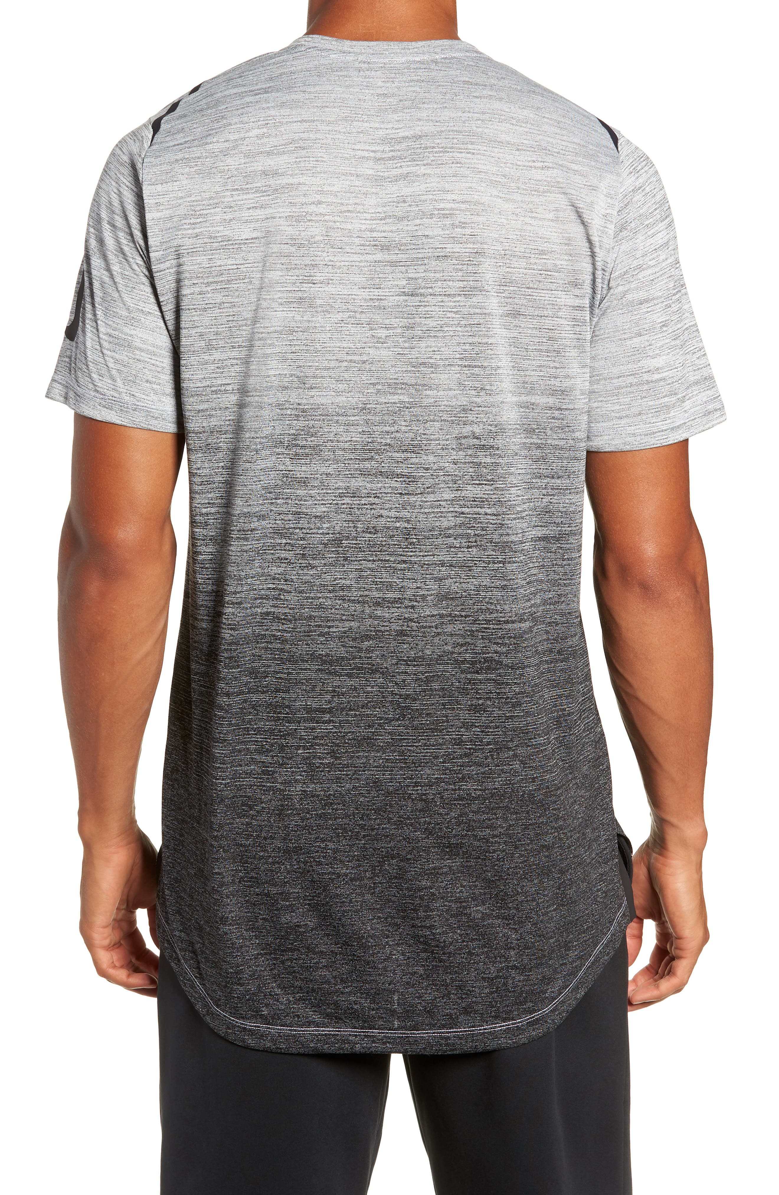 Dry Max Training T-Shirt,                             Alternate thumbnail 2, color,                             BLACK/ WHITE/ HYPER COBALT