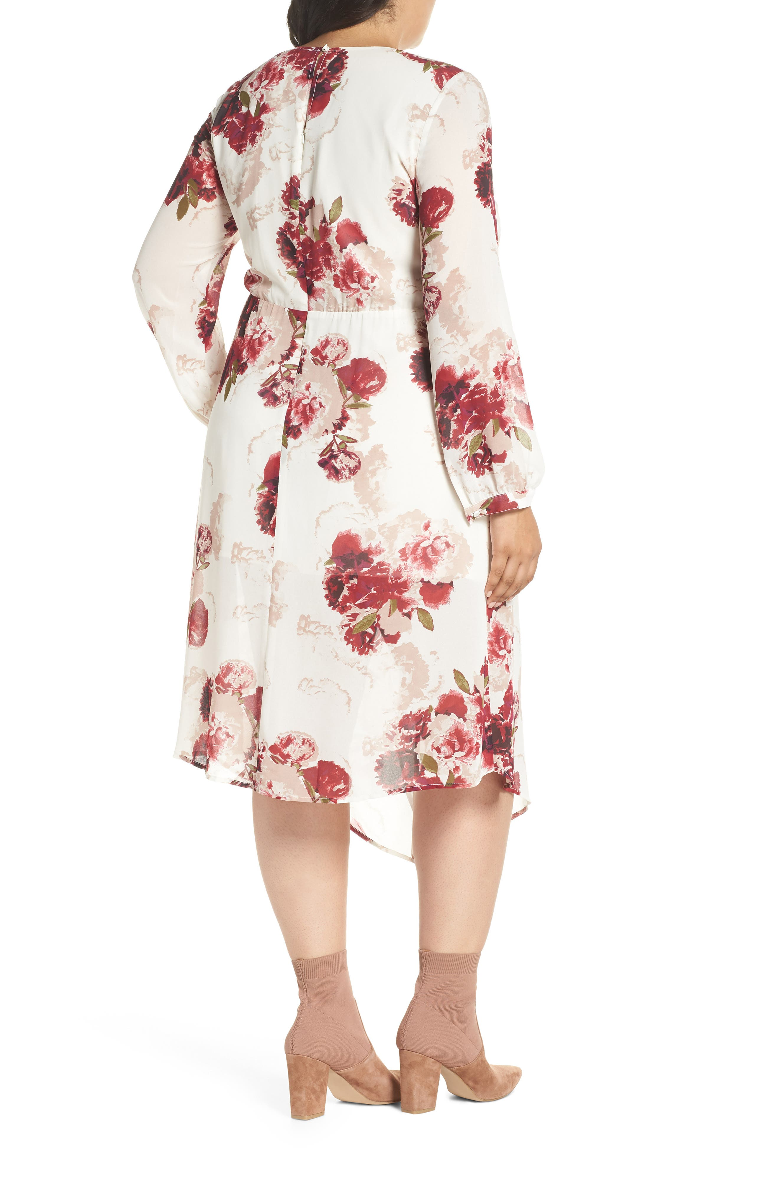 Floral Drape Dress,                             Alternate thumbnail 2, color,                             900
