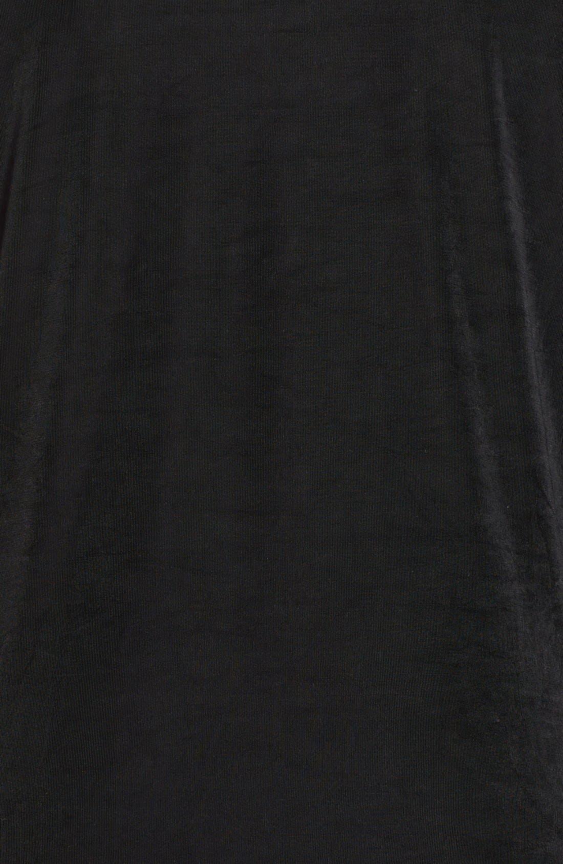 Three-Quarter Sleeve Cardigan,                             Alternate thumbnail 3, color,                             BLACK