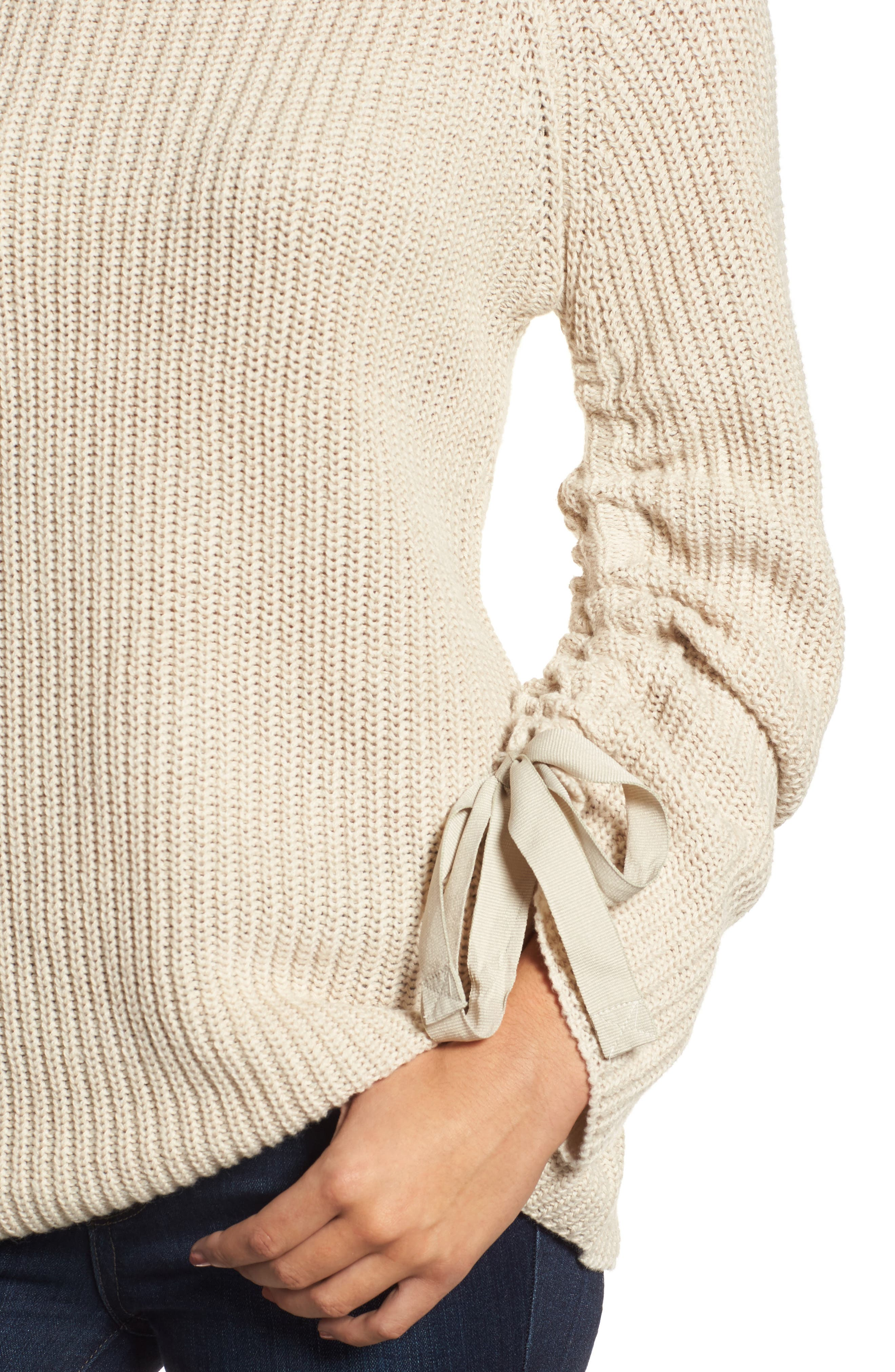 RD Style Tie Sleeve Sweater,                             Alternate thumbnail 8, color,