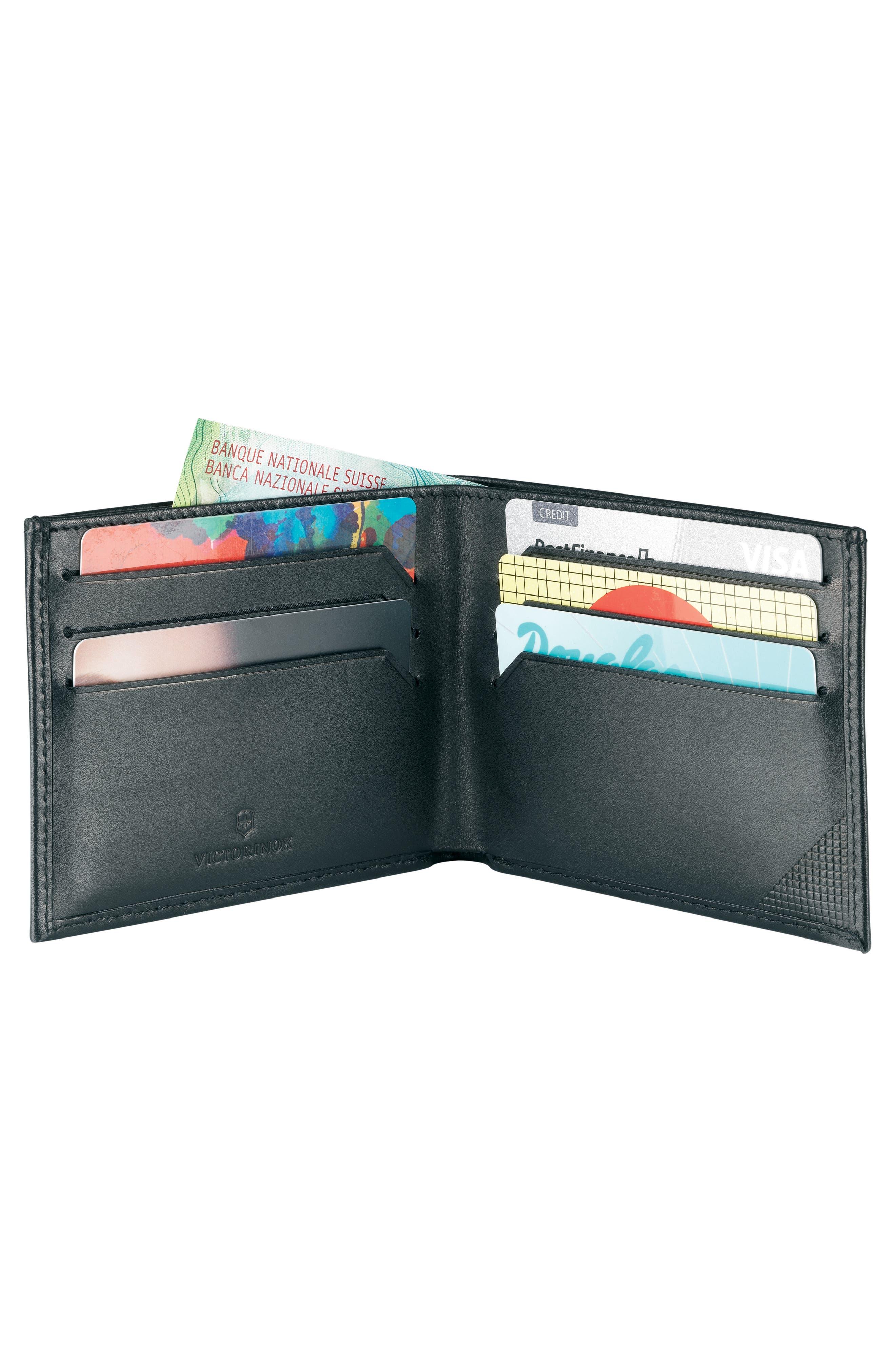 Altius Edge Appolonios RFID Leather Wallet,                             Alternate thumbnail 2, color,                             BLACK
