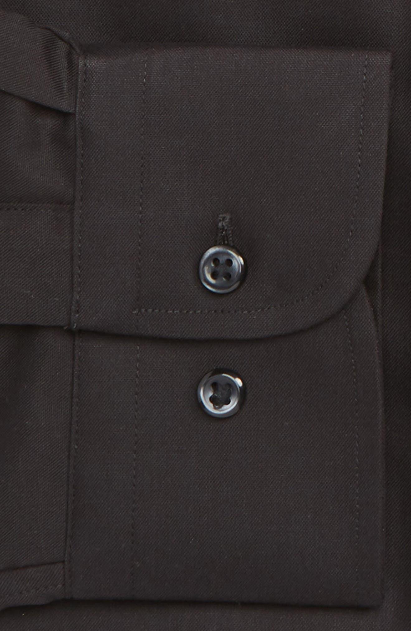 Traditional Fit Non-Iron Dress Shirt,                             Alternate thumbnail 2, color,                             BLACK