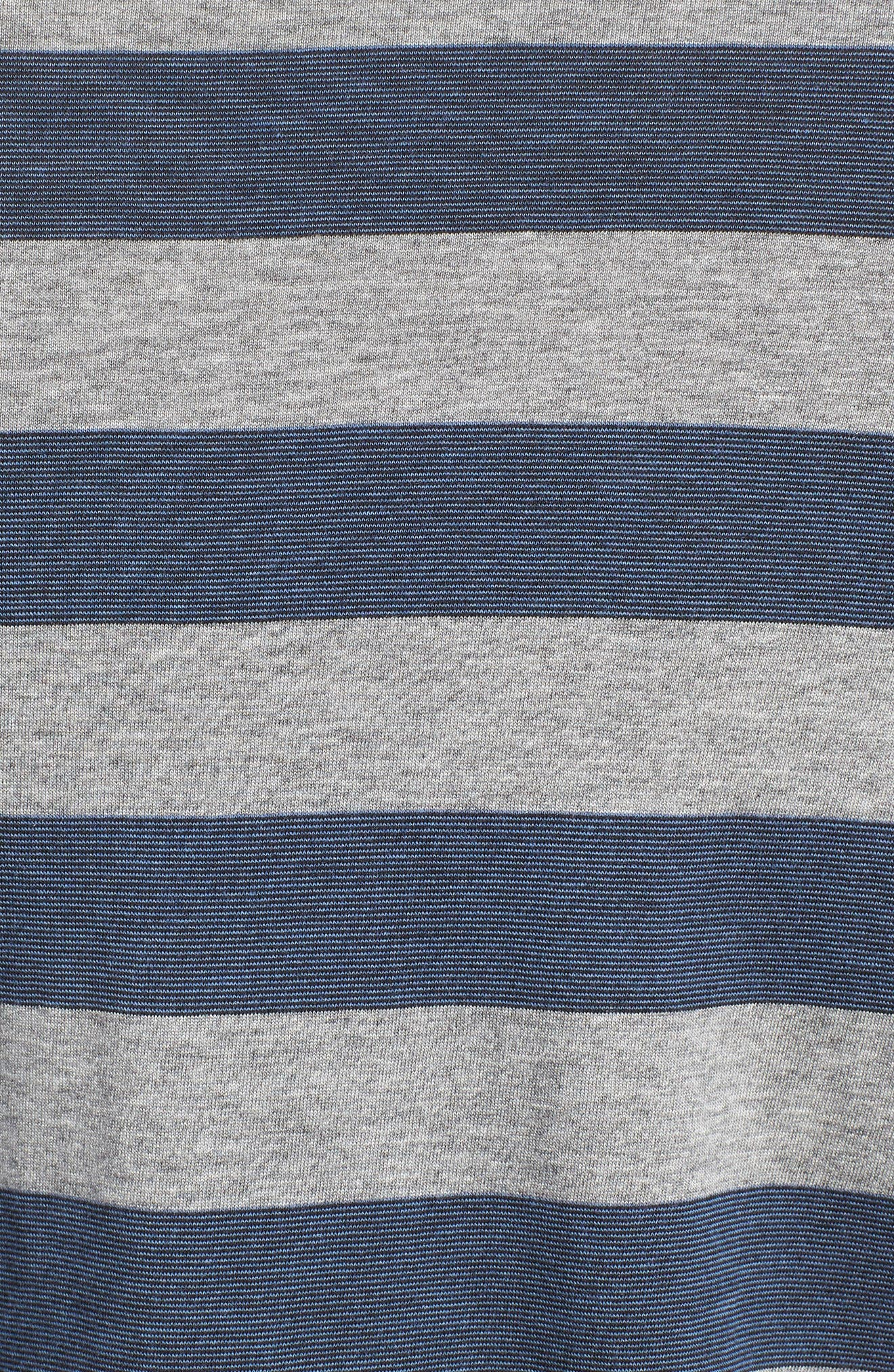 Stripe Pima Cotton & Modal V-Neck T-Shirt,                             Alternate thumbnail 5, color,                             020