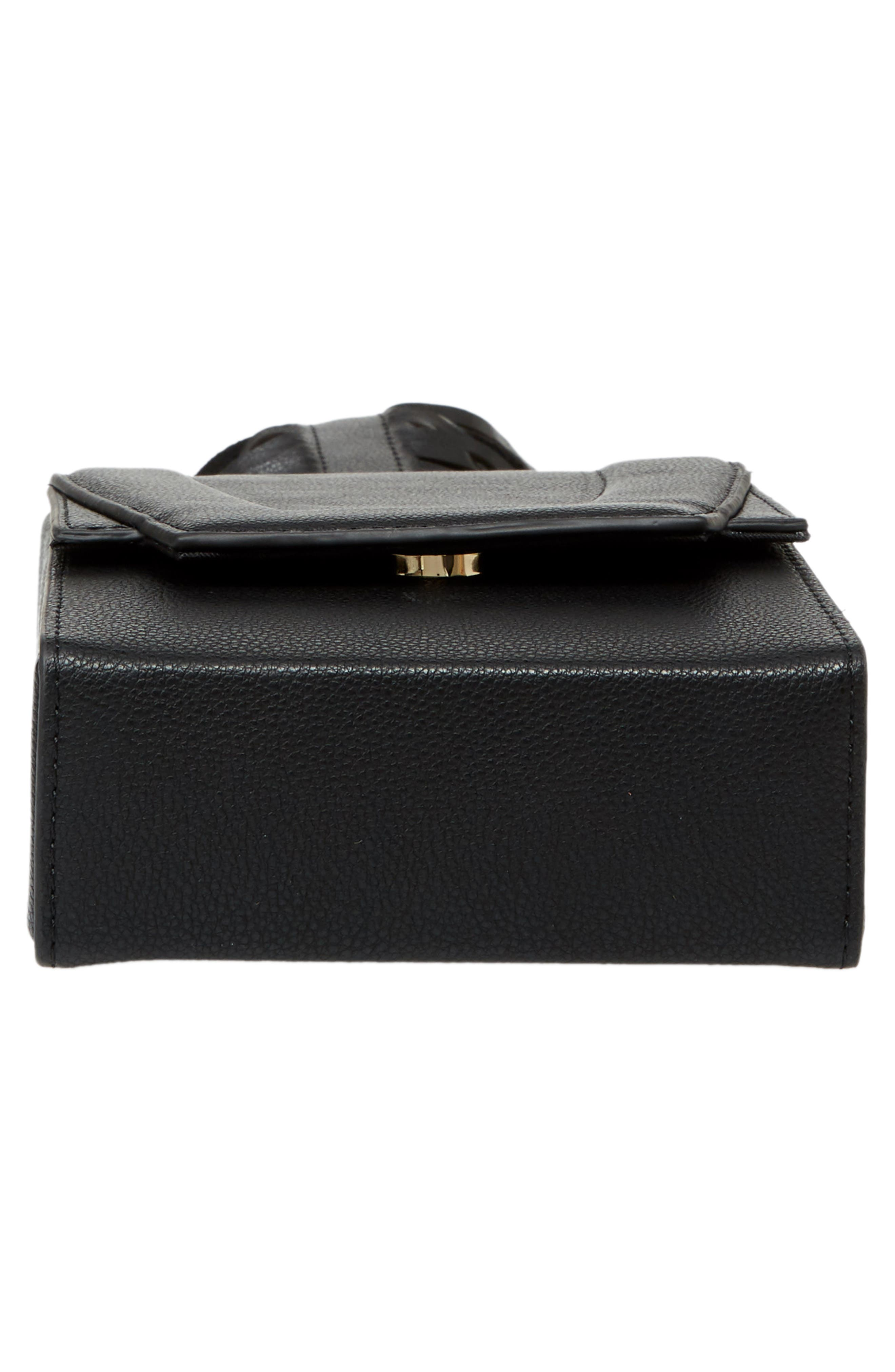 Alivia Leather Clutch,                             Alternate thumbnail 12, color,