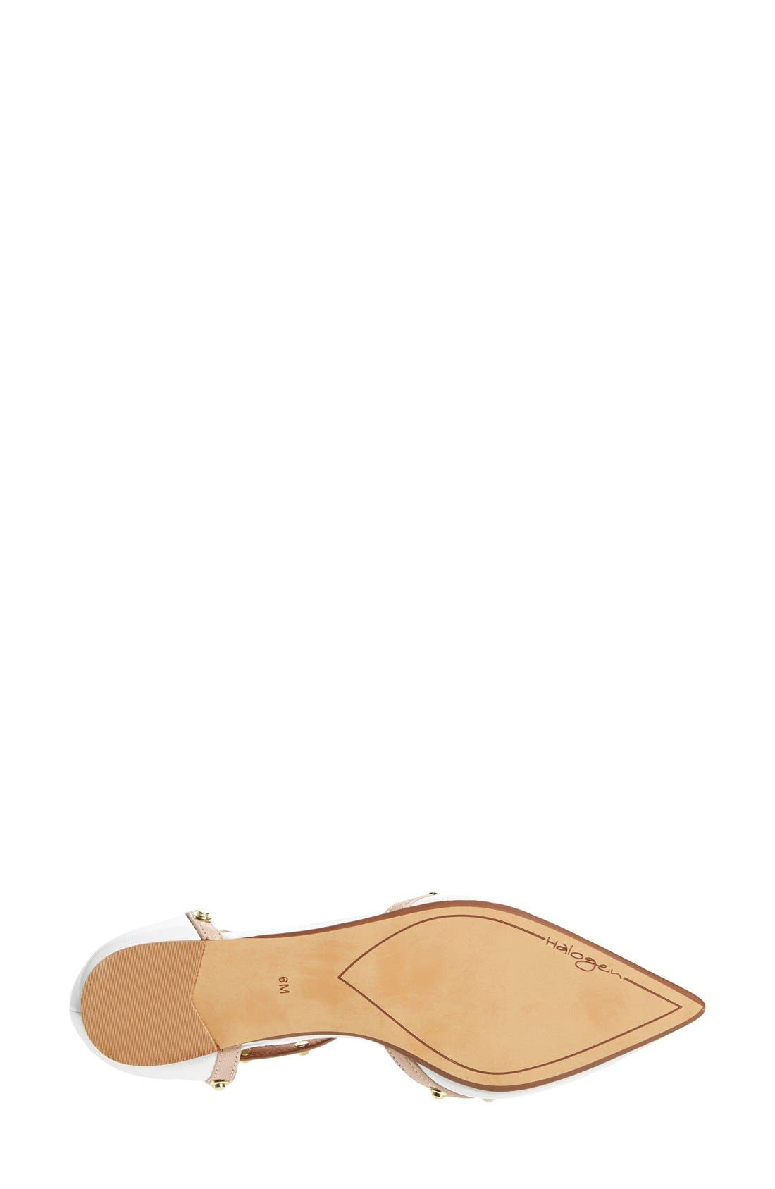 'Olson' Pointy Toe Studded T-Strap Flat,                             Alternate thumbnail 57, color,