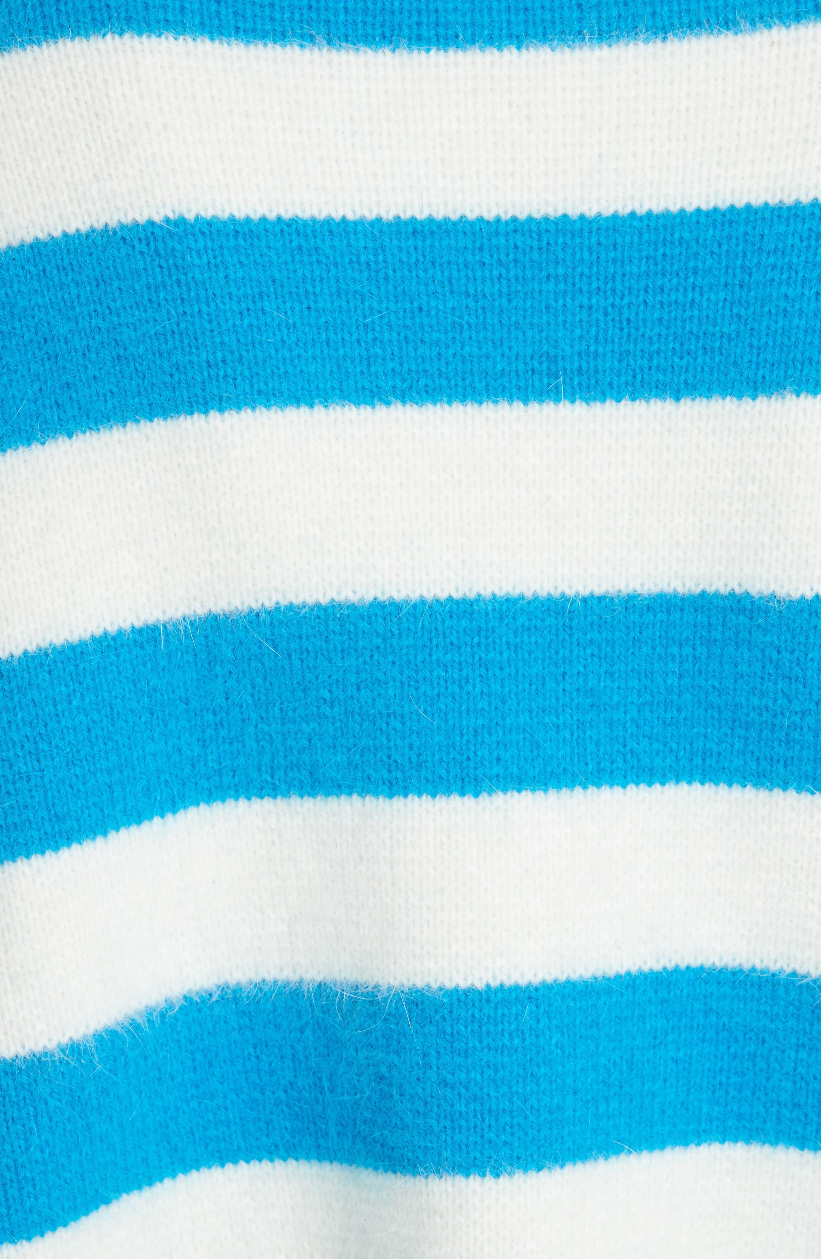 Stripe Baseball Sweater,                             Alternate thumbnail 5, color,                             470