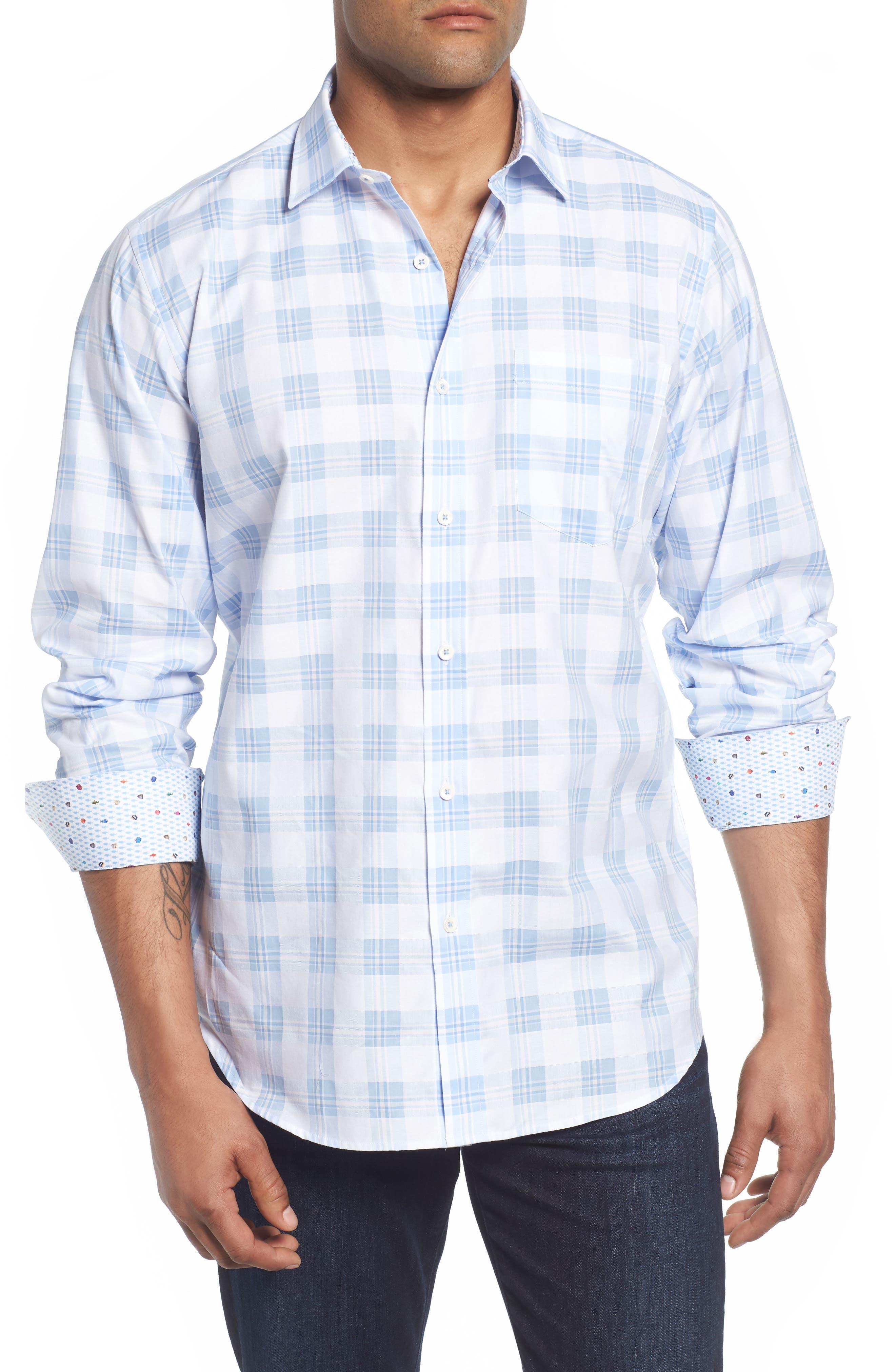 Classic Fit Tartan Sport Shirt,                         Main,                         color,