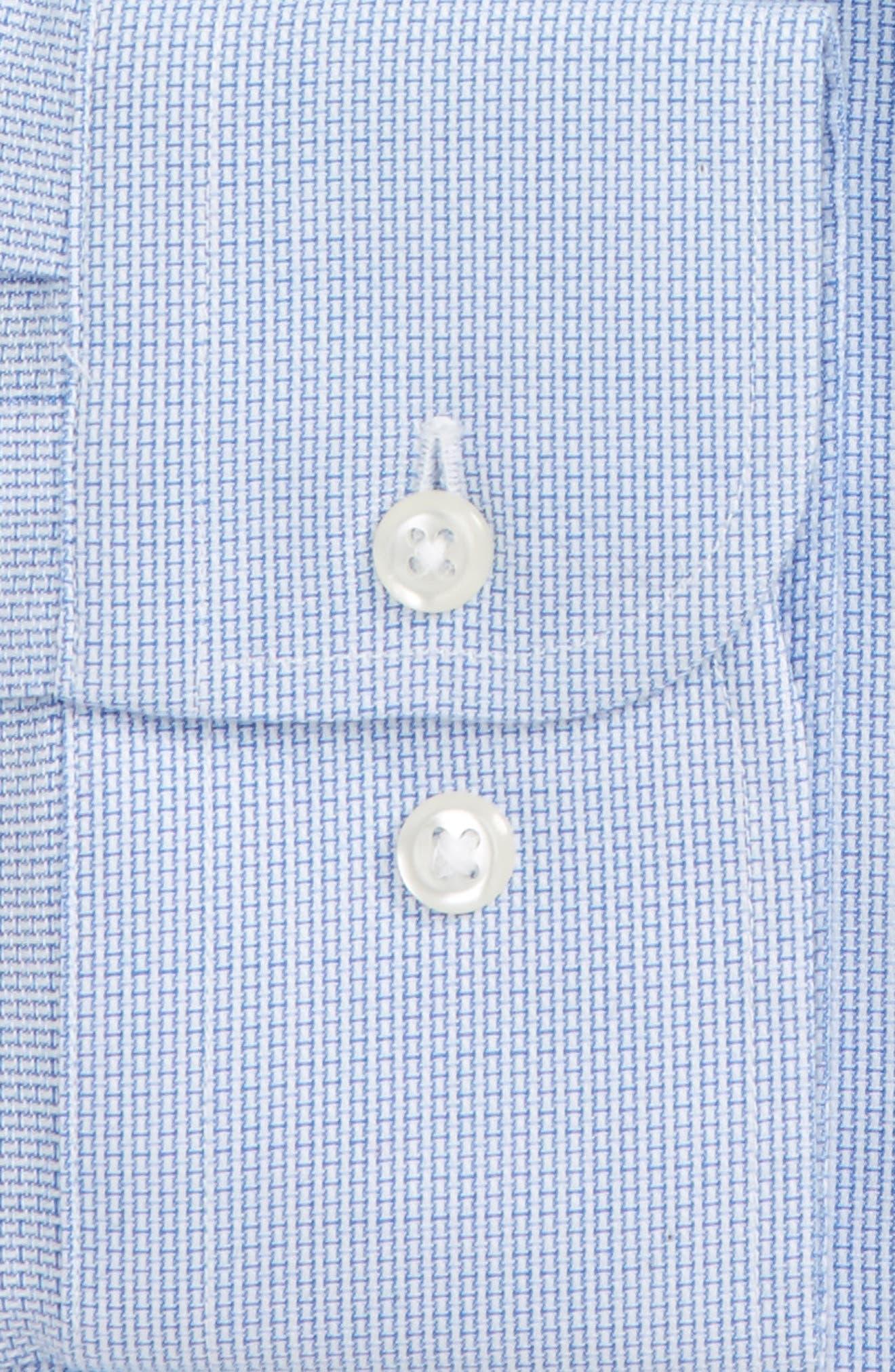 Smartcare<sup>™</sup> Trim Fit Solid Dress Shirt,                             Alternate thumbnail 4, color,