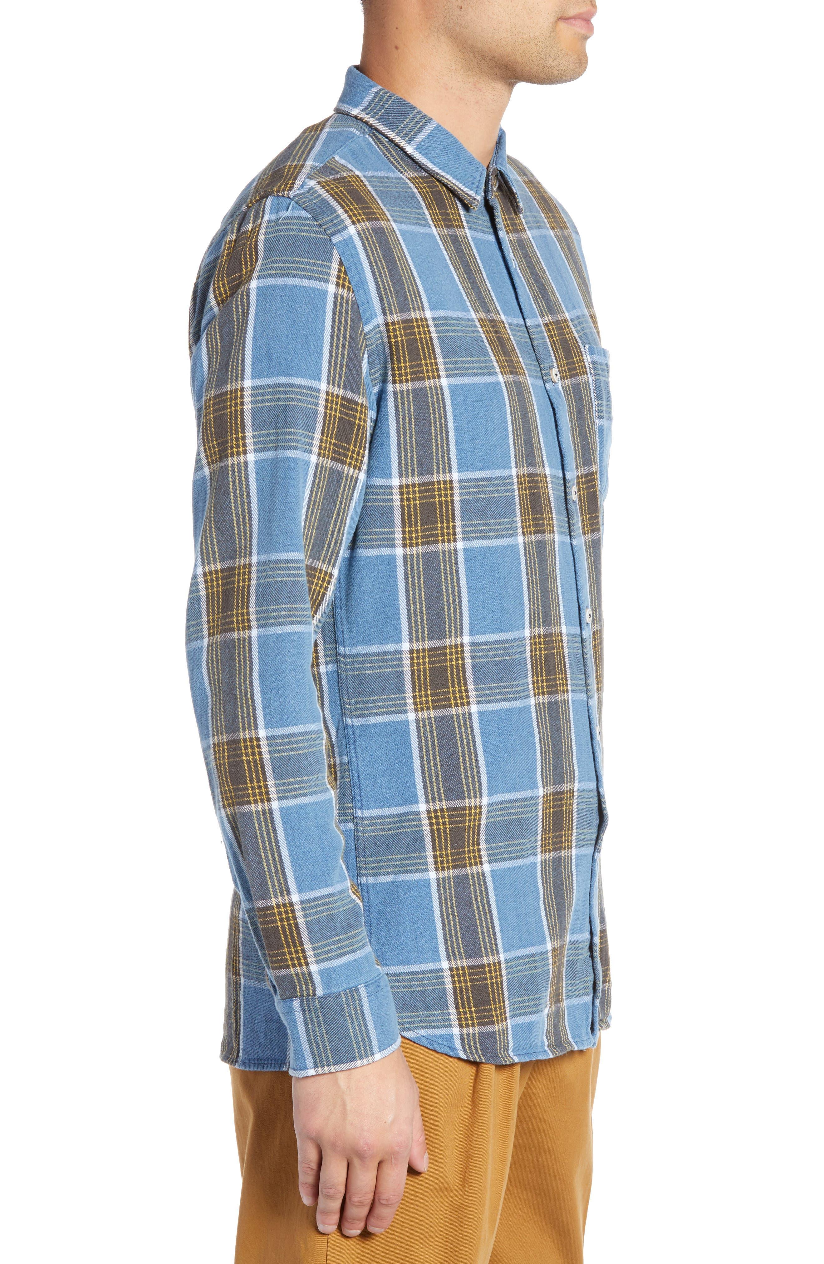 Plaid Flannel Shirt,                             Alternate thumbnail 4, color,                             450