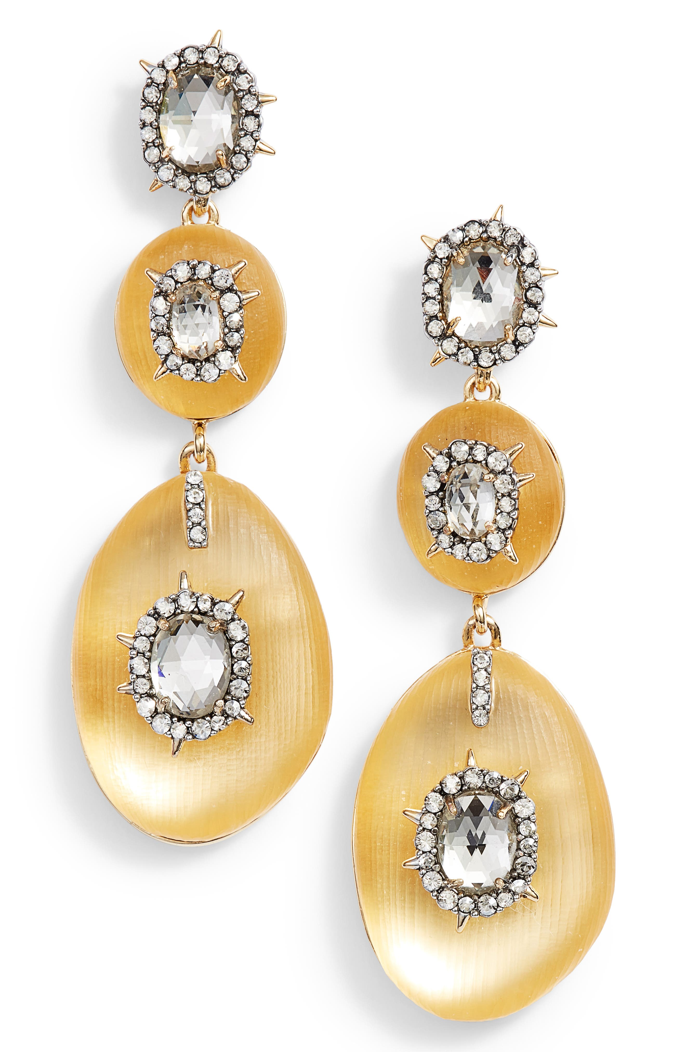 Lucite<sup>®</sup> Charm Drop Earrings,                         Main,                         color, GOLD