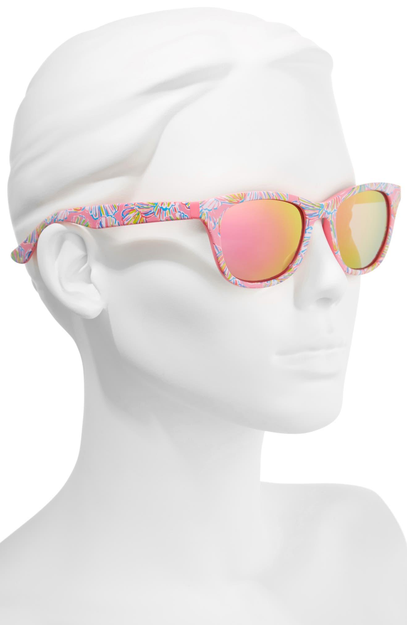 63ce5493e9 Lilly Pulitzer® Maddie 52mm Polarized Mirrored Sunglasses