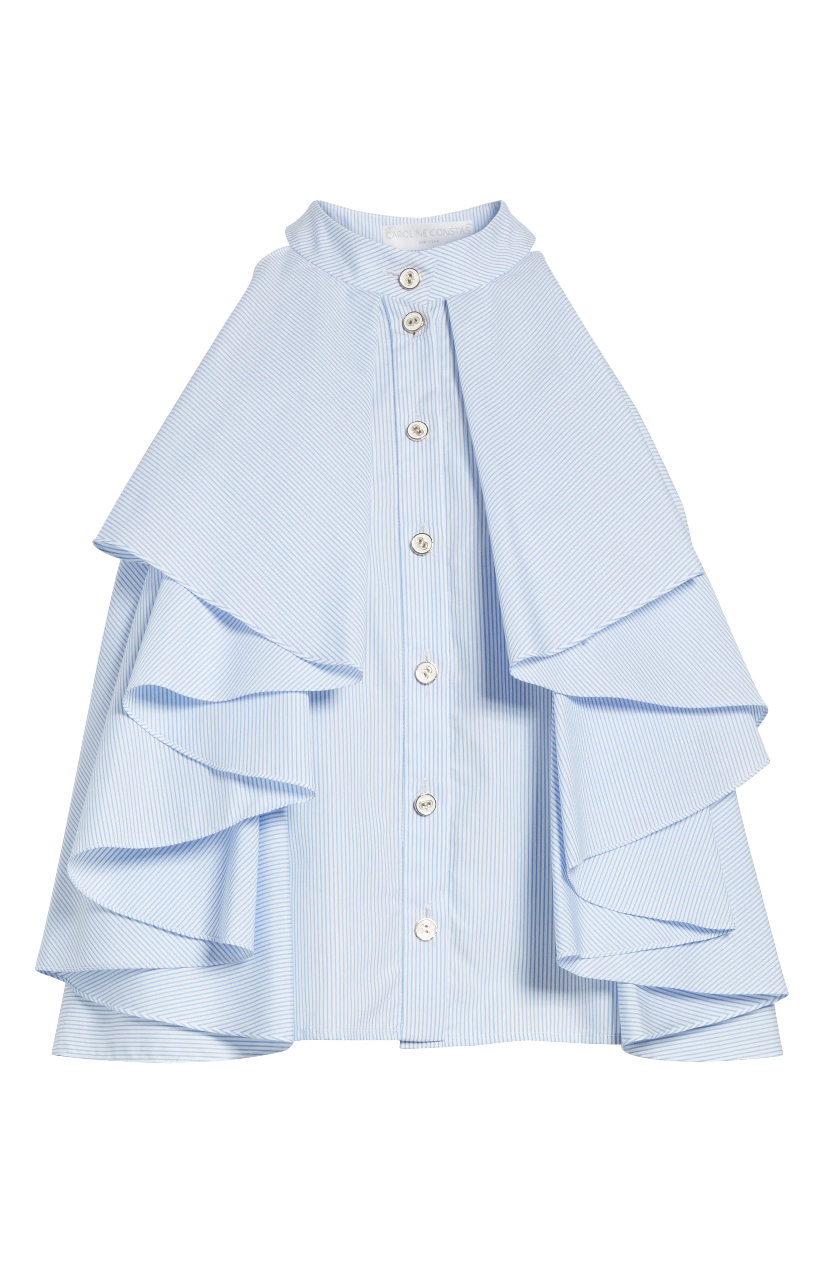 Adrie Ruffle Blouse,                             Alternate thumbnail 6, color,                             455