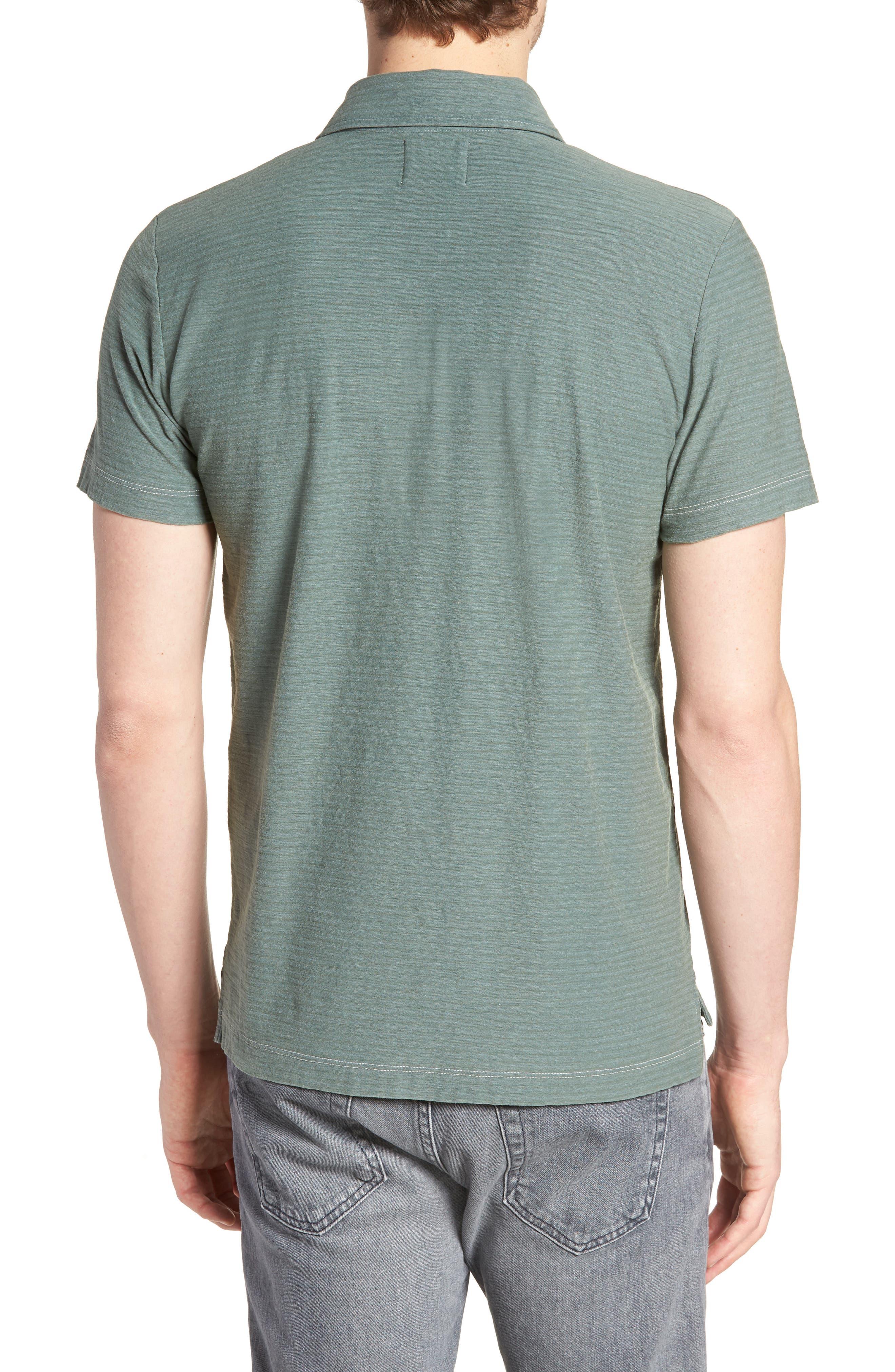 Pensacola Cotton Blend Polo Shirt,                             Alternate thumbnail 2, color,                             SAGE