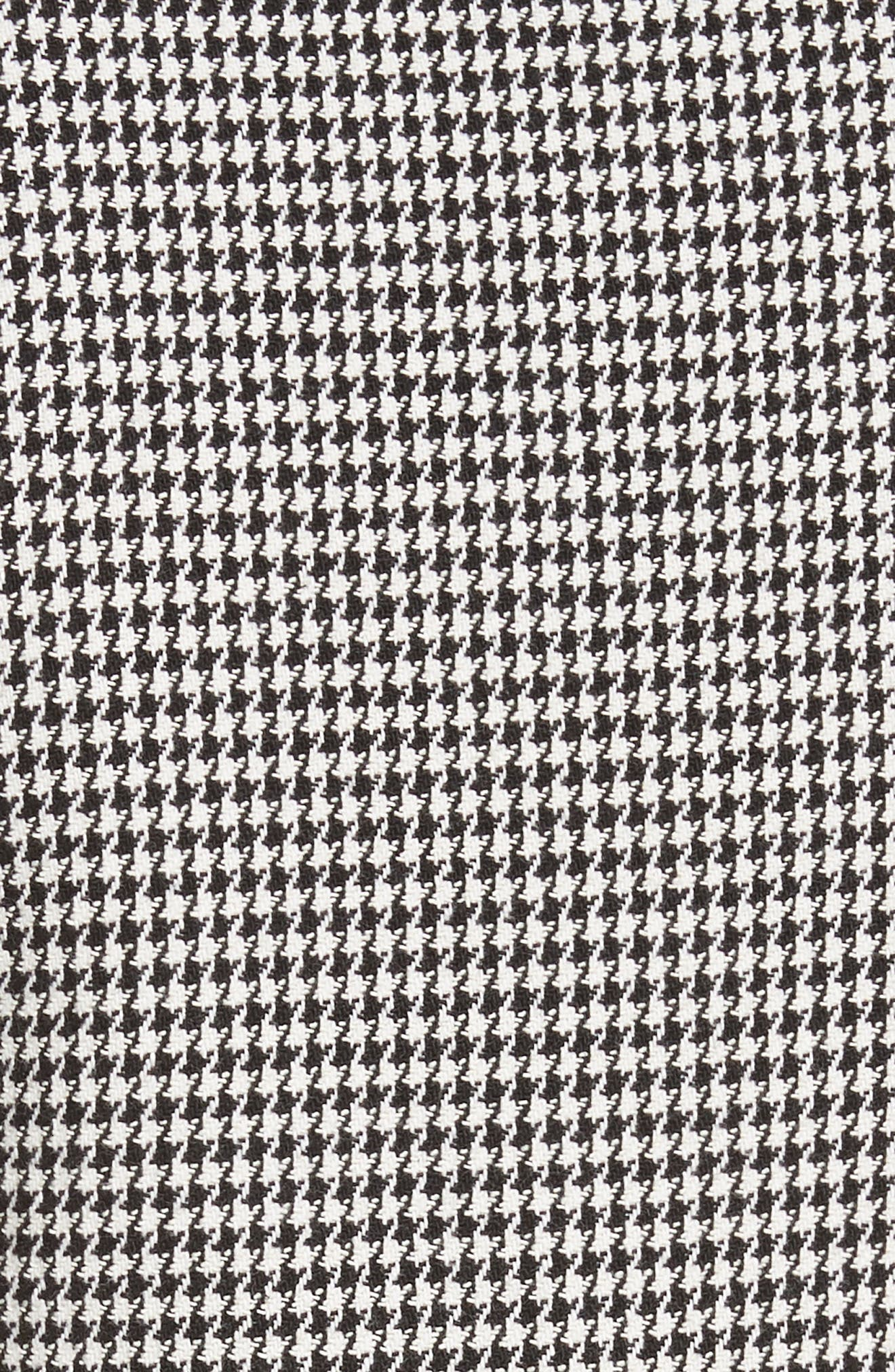 Leigh Houndstooth Minidress,                             Alternate thumbnail 5, color,                             BLACK/WHITE