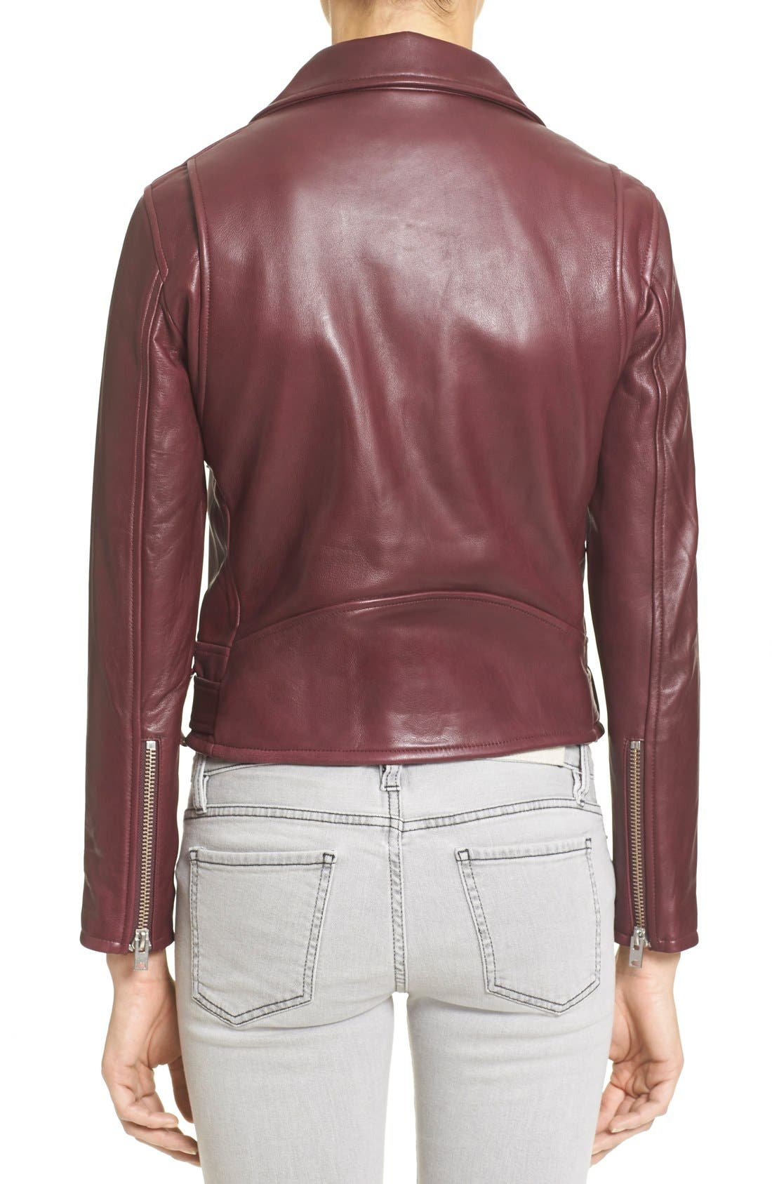 IRO,                             'Gant' Belted Leather Jacket,                             Alternate thumbnail 4, color,                             950