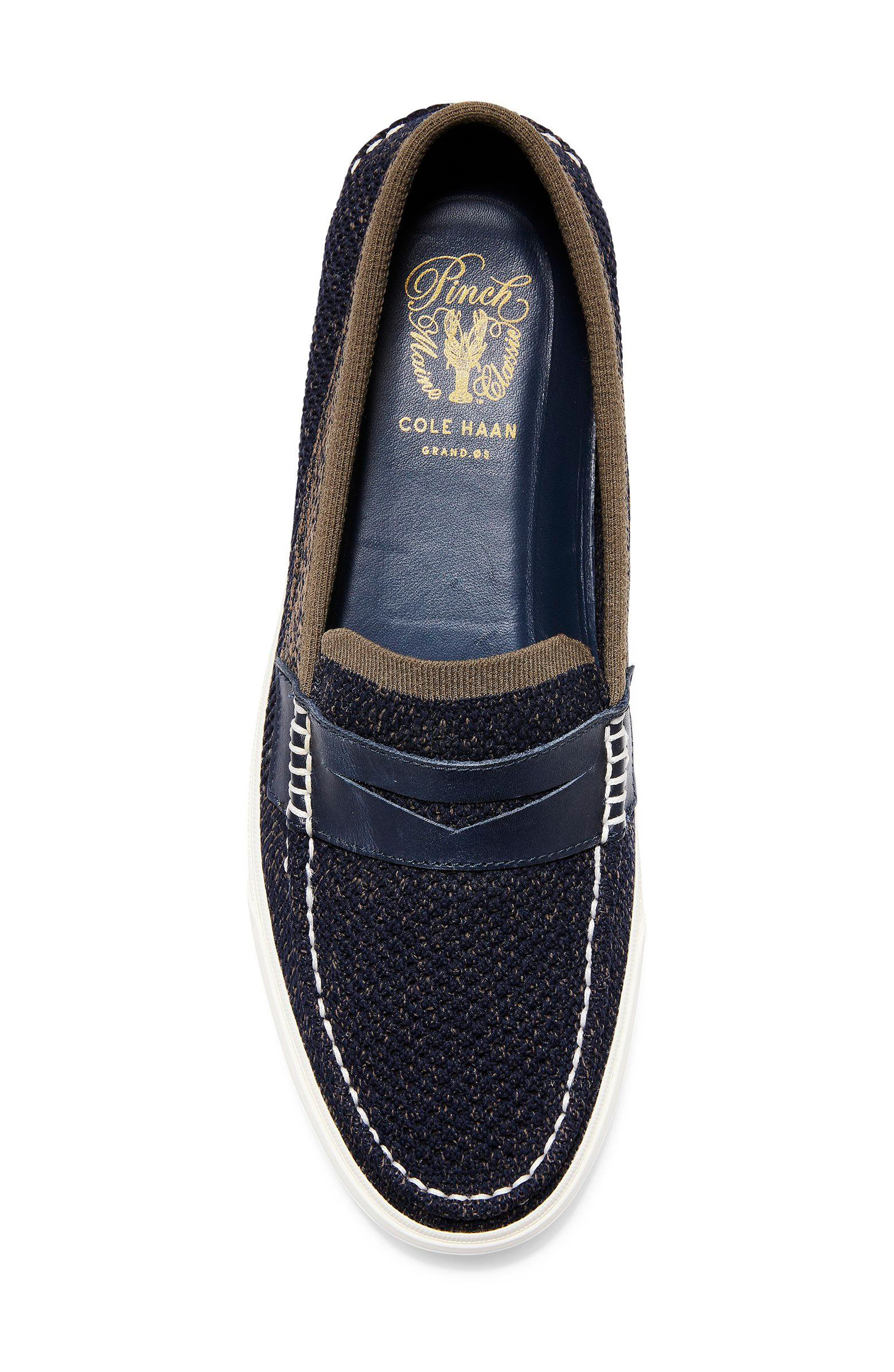 Pinch Stitch LX Stitchlite<sup>™</sup> Penny Loafer,                             Alternate thumbnail 5, color,                             NAVY/ MOREL