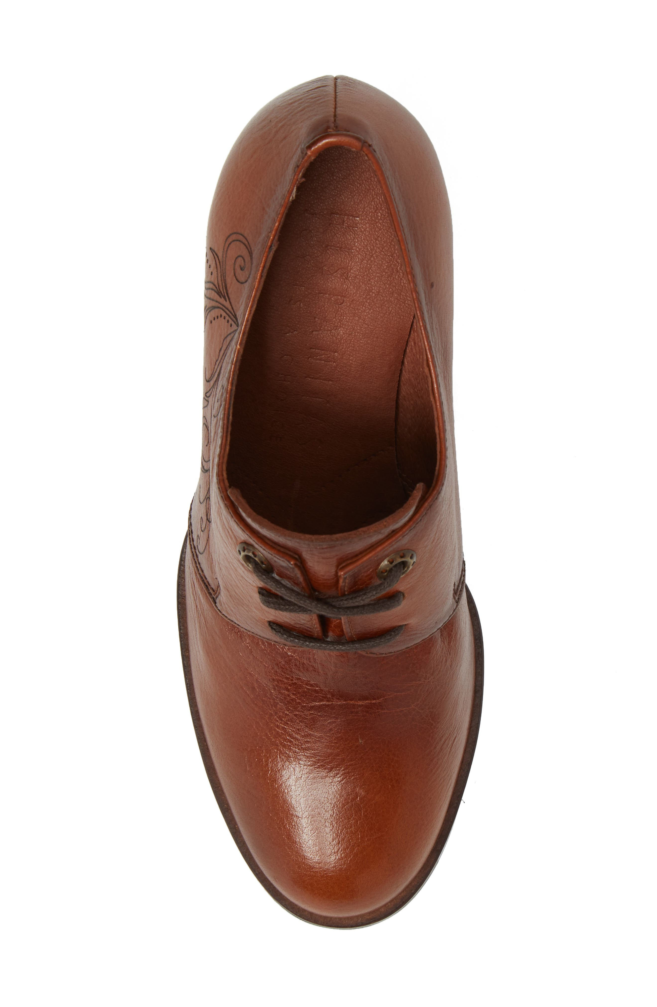 Hayes Lace-Up Pump,                             Alternate thumbnail 5, color,                             CUOIO LEATHER