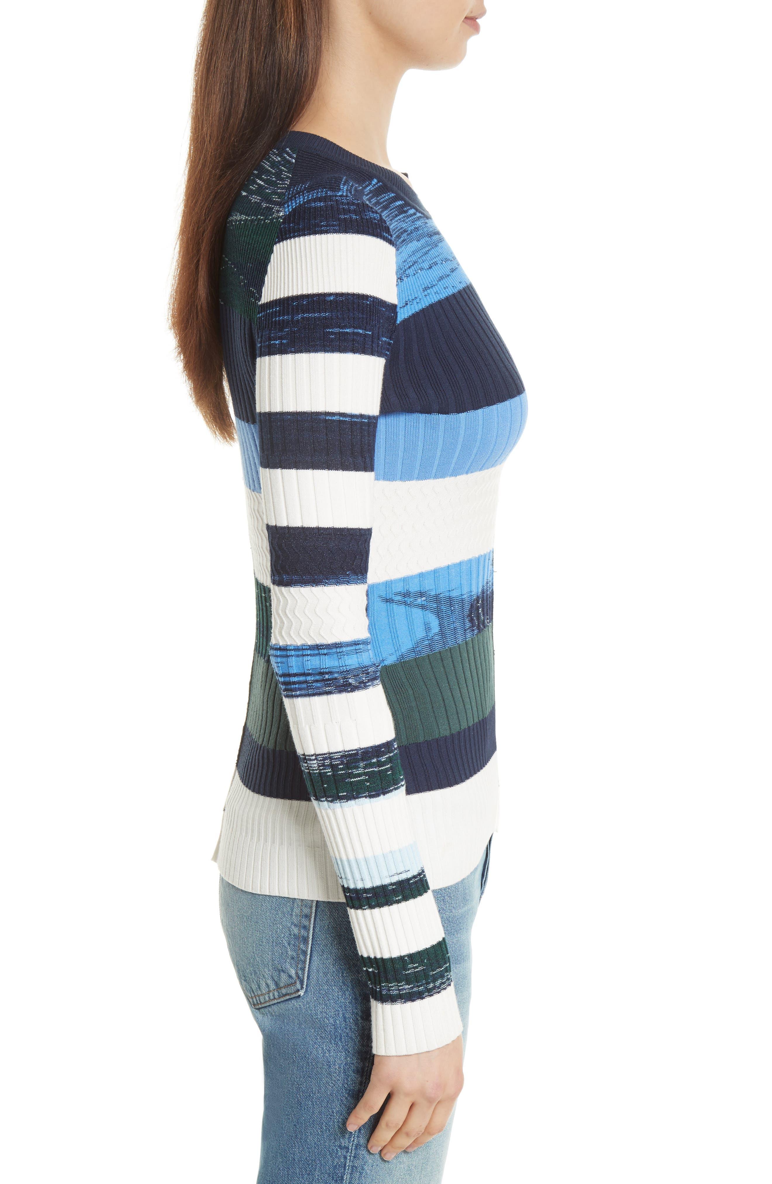 Space Dye Stripe Top,                             Alternate thumbnail 3, color,                             460