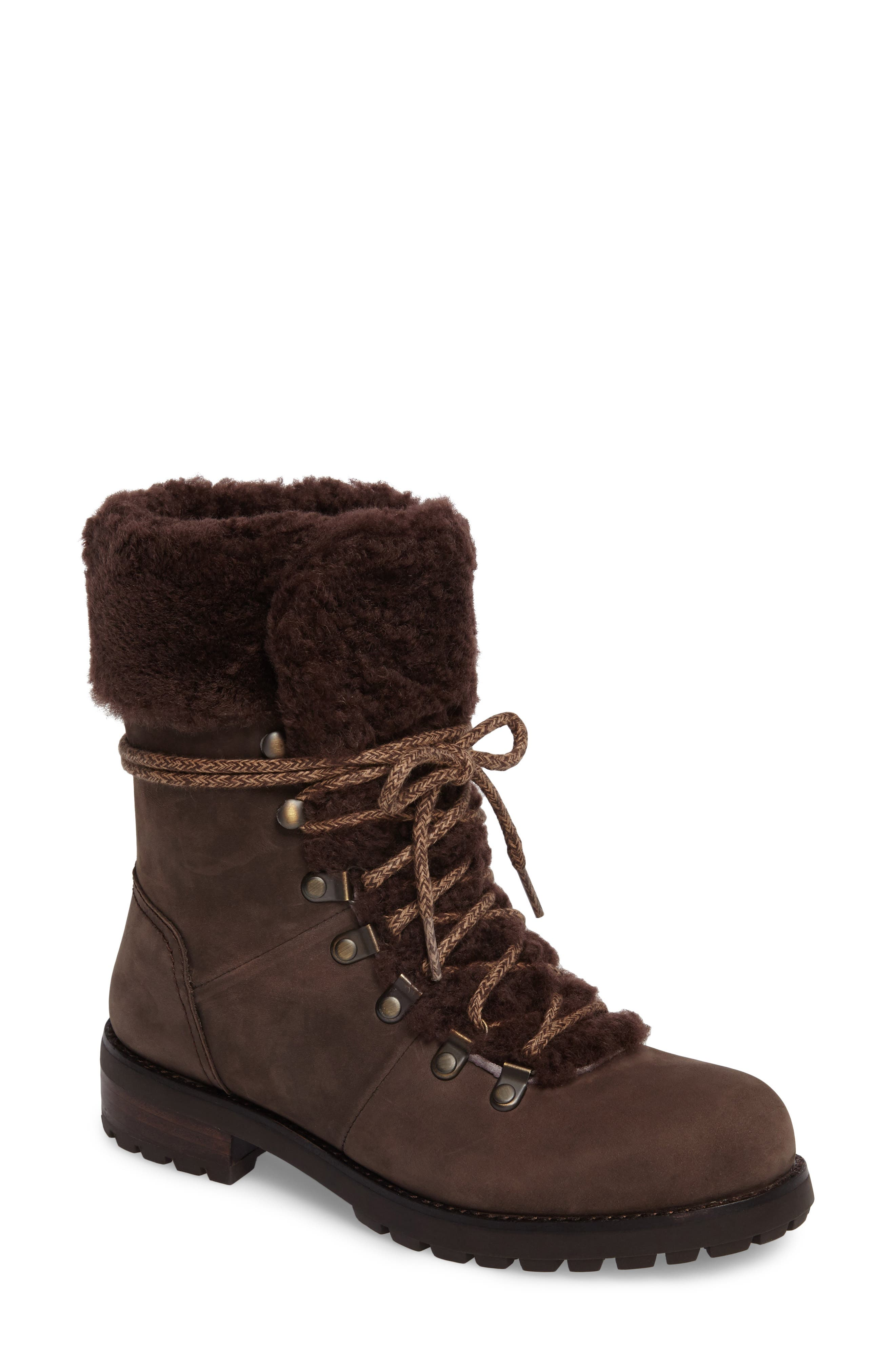 Fraser Genuine Shearling Water Resistant Boot,                             Main thumbnail 3, color,