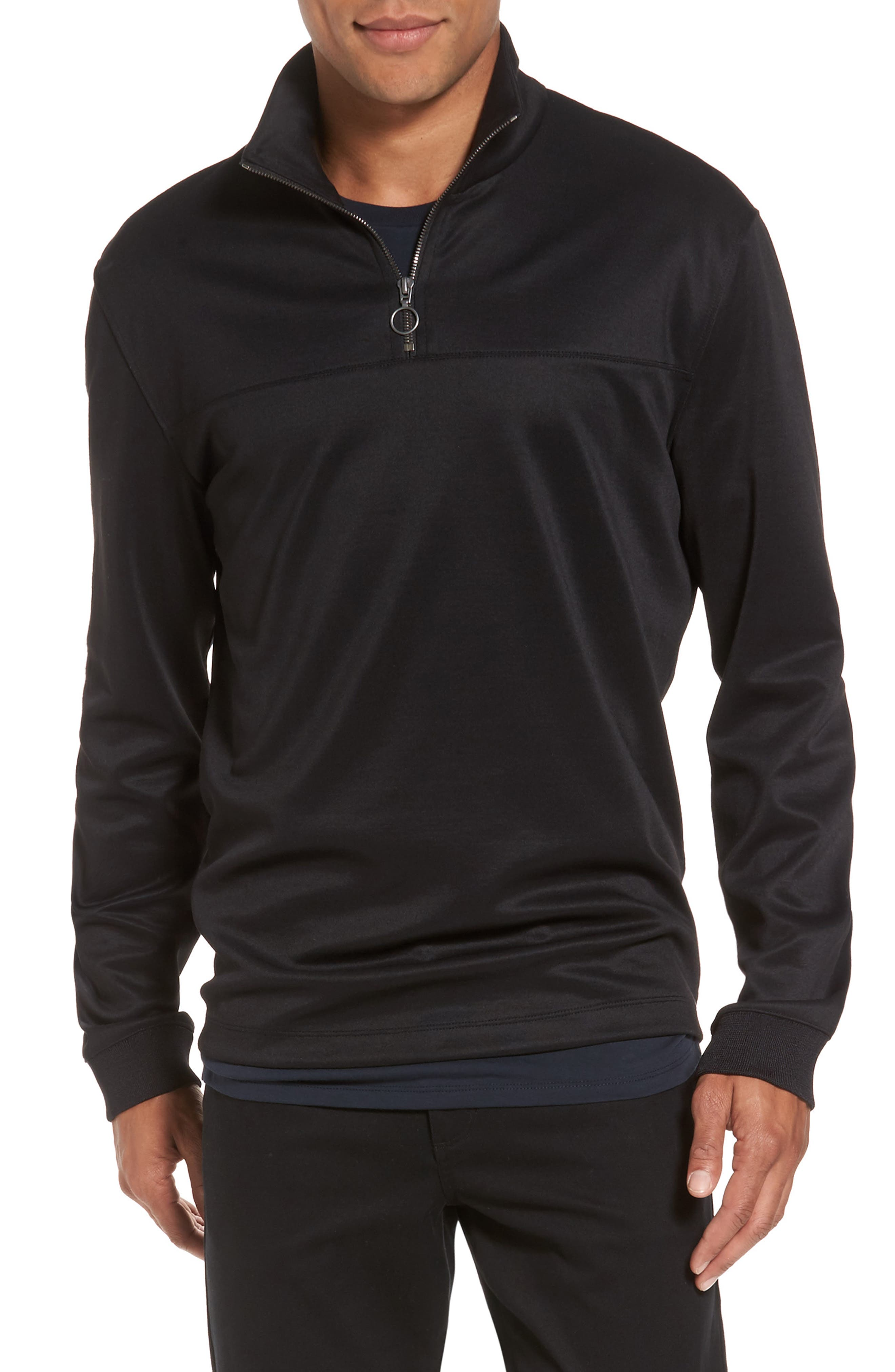 Quarter Zip Jacket,                             Main thumbnail 1, color,                             001